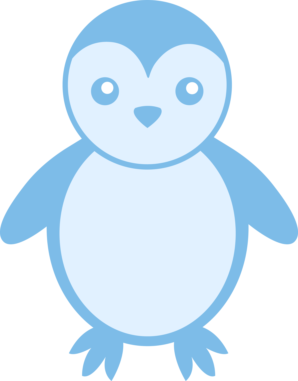 Baby Blue Penguin - Free Clip Art