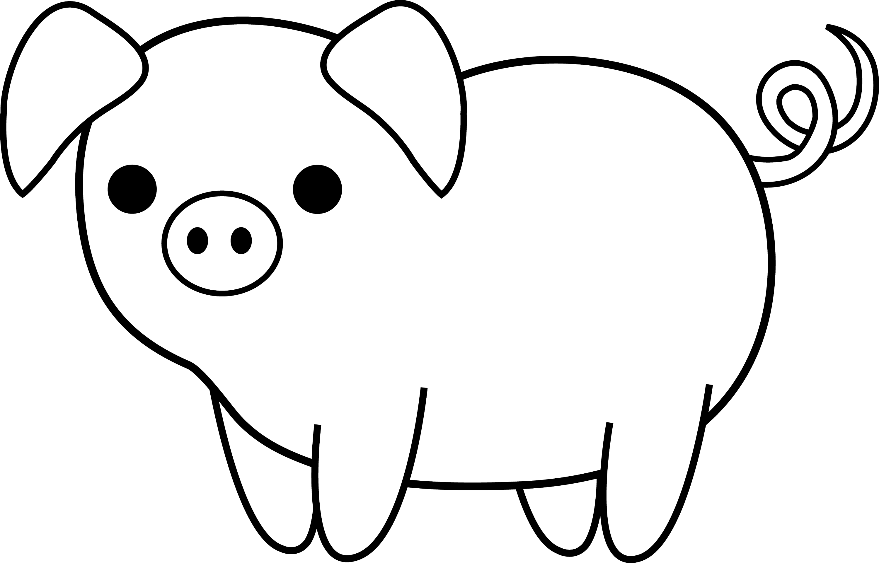 Cute Piglet Coloring Pages