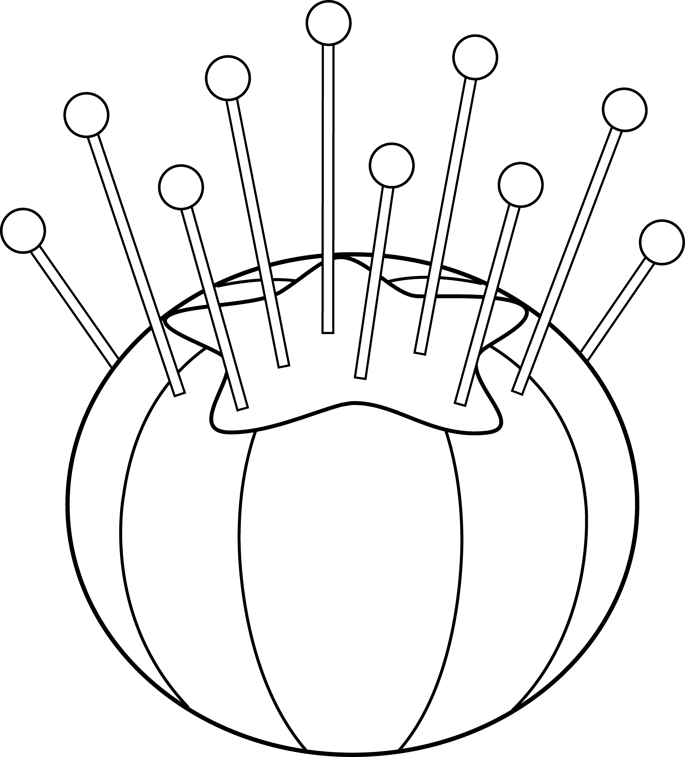 Pin Cushion Outline
