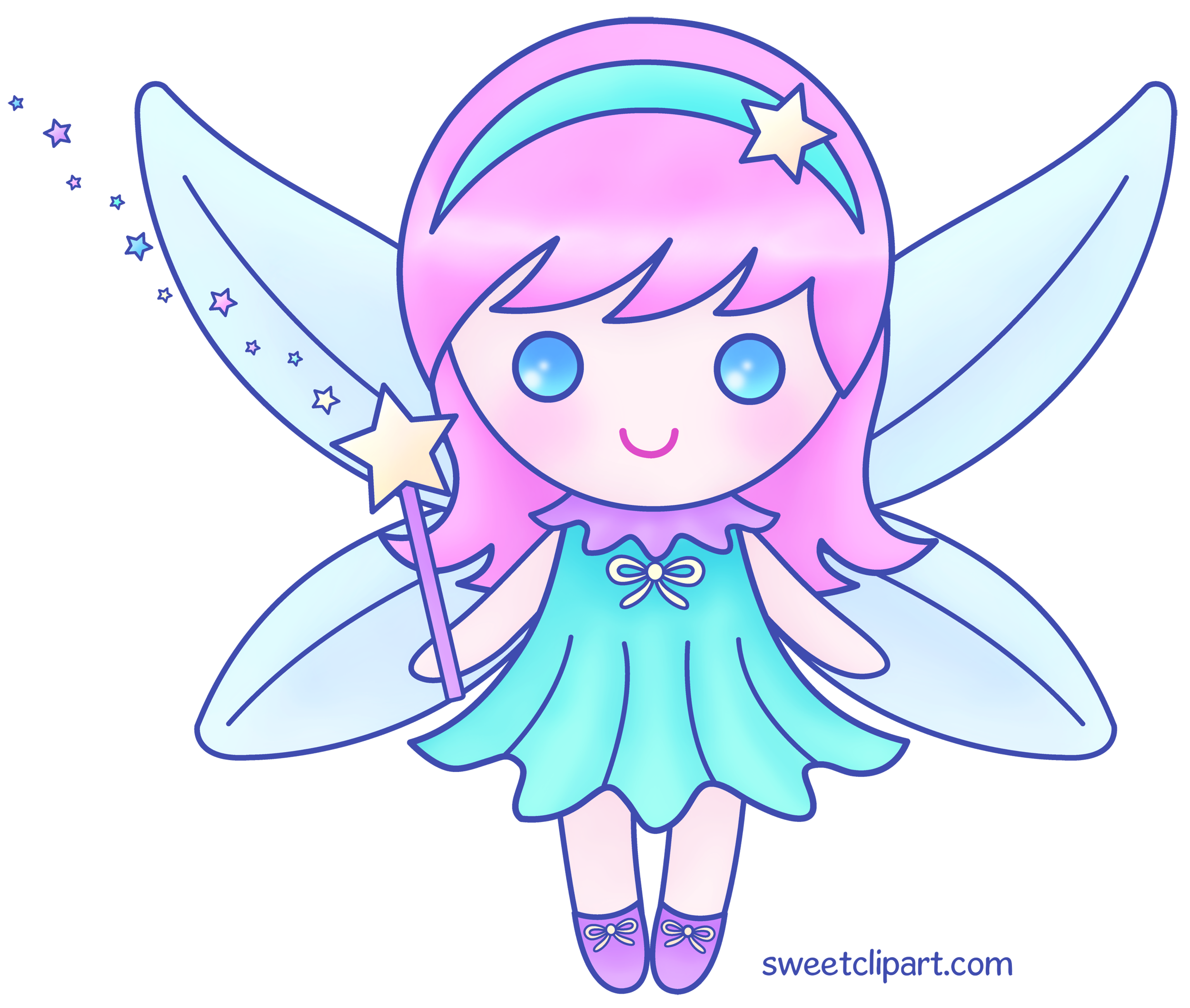 Cute pink fairy version 2 free clip art - The graphics fairy ...