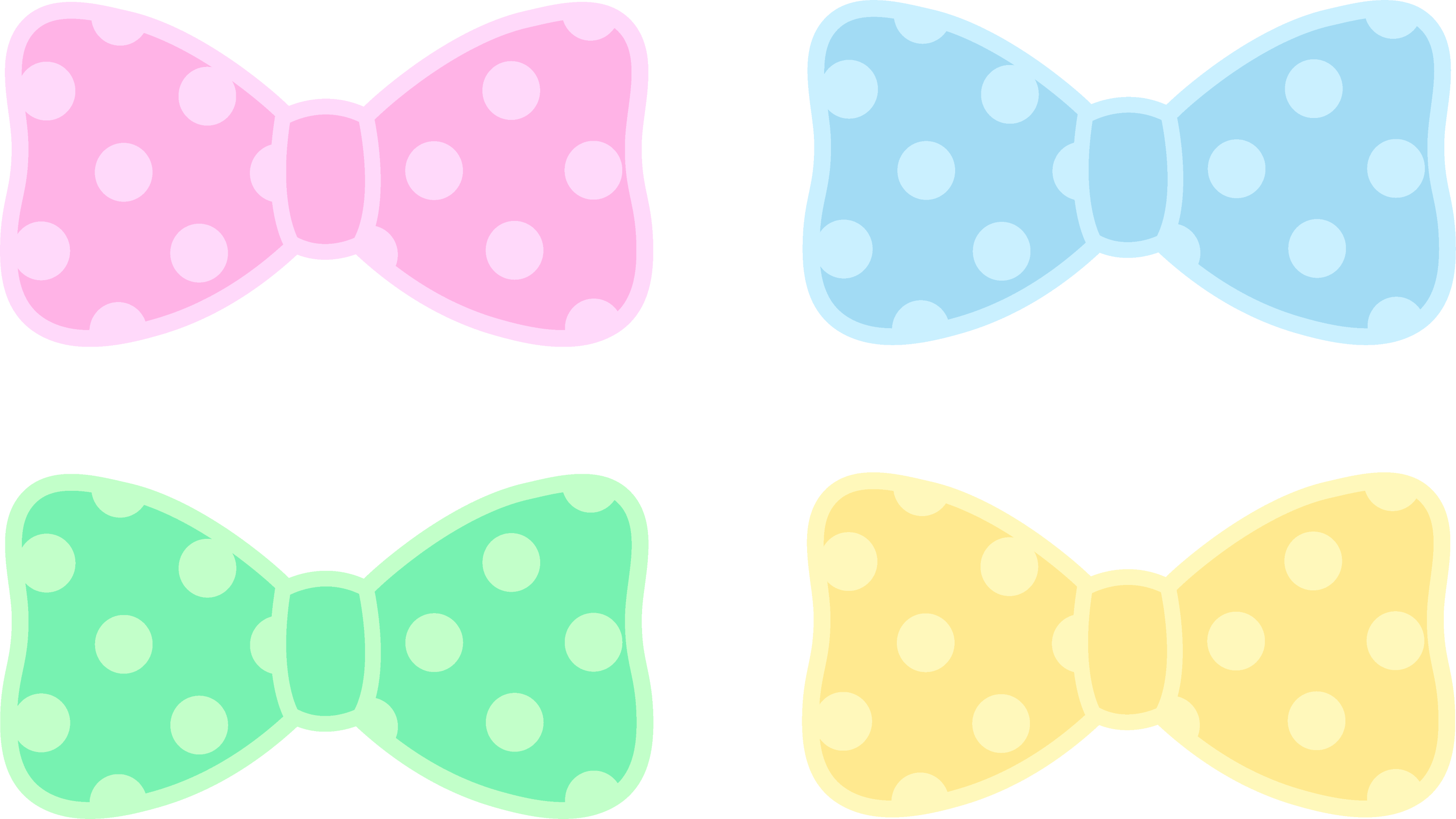 cute polka dot pastel bows free clip art rh sweetclipart com polka dot clip art borders free polka dot clipart black and white