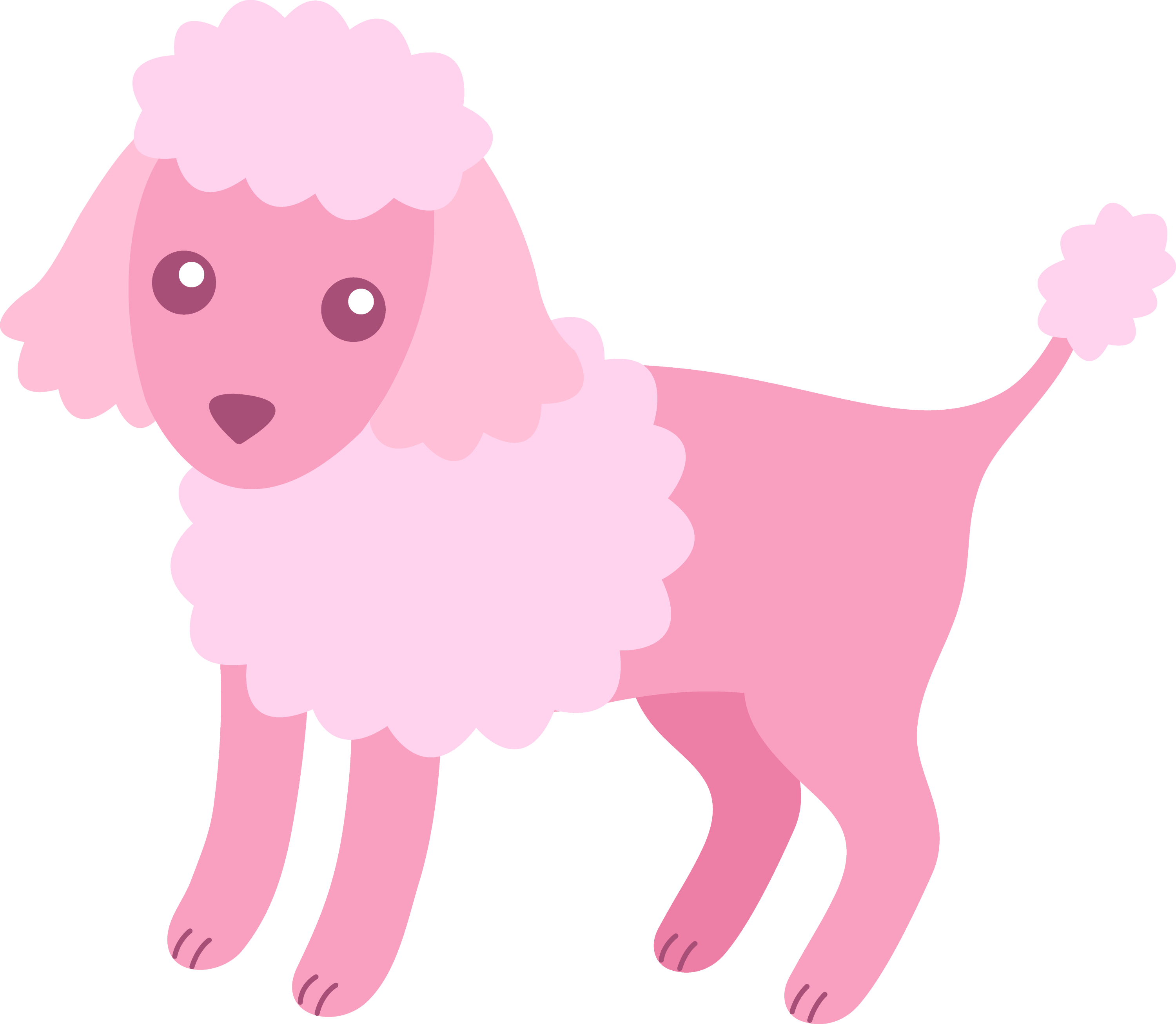 cute fluffy pink poodle free clip art rh sweetclipart com poodle skirt dog clipart White Poodle Clip Art