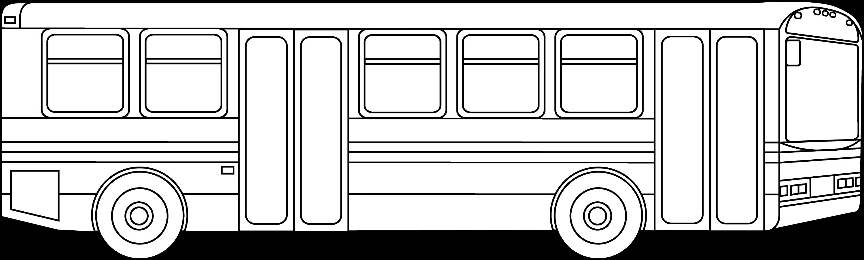 public transportation bus outline free clip art