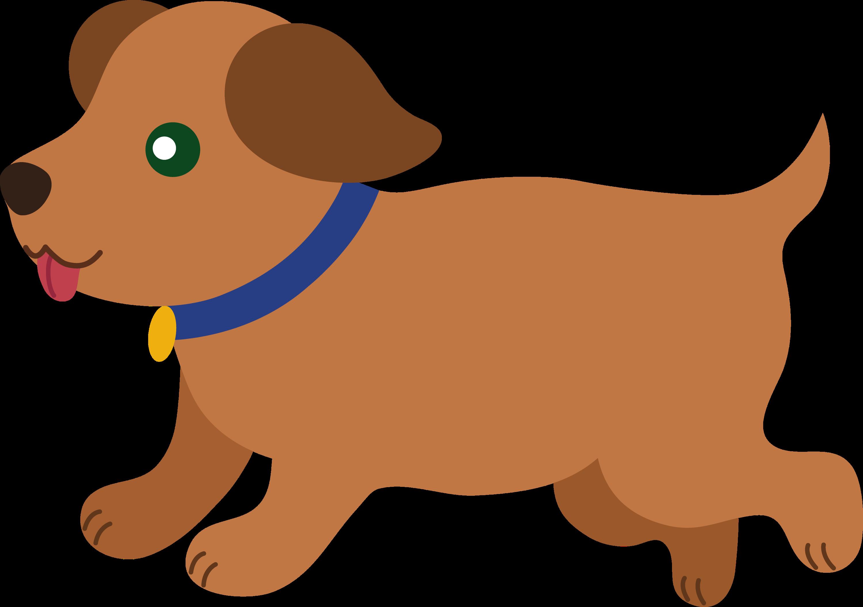 Dog brown. Cute puppy running free