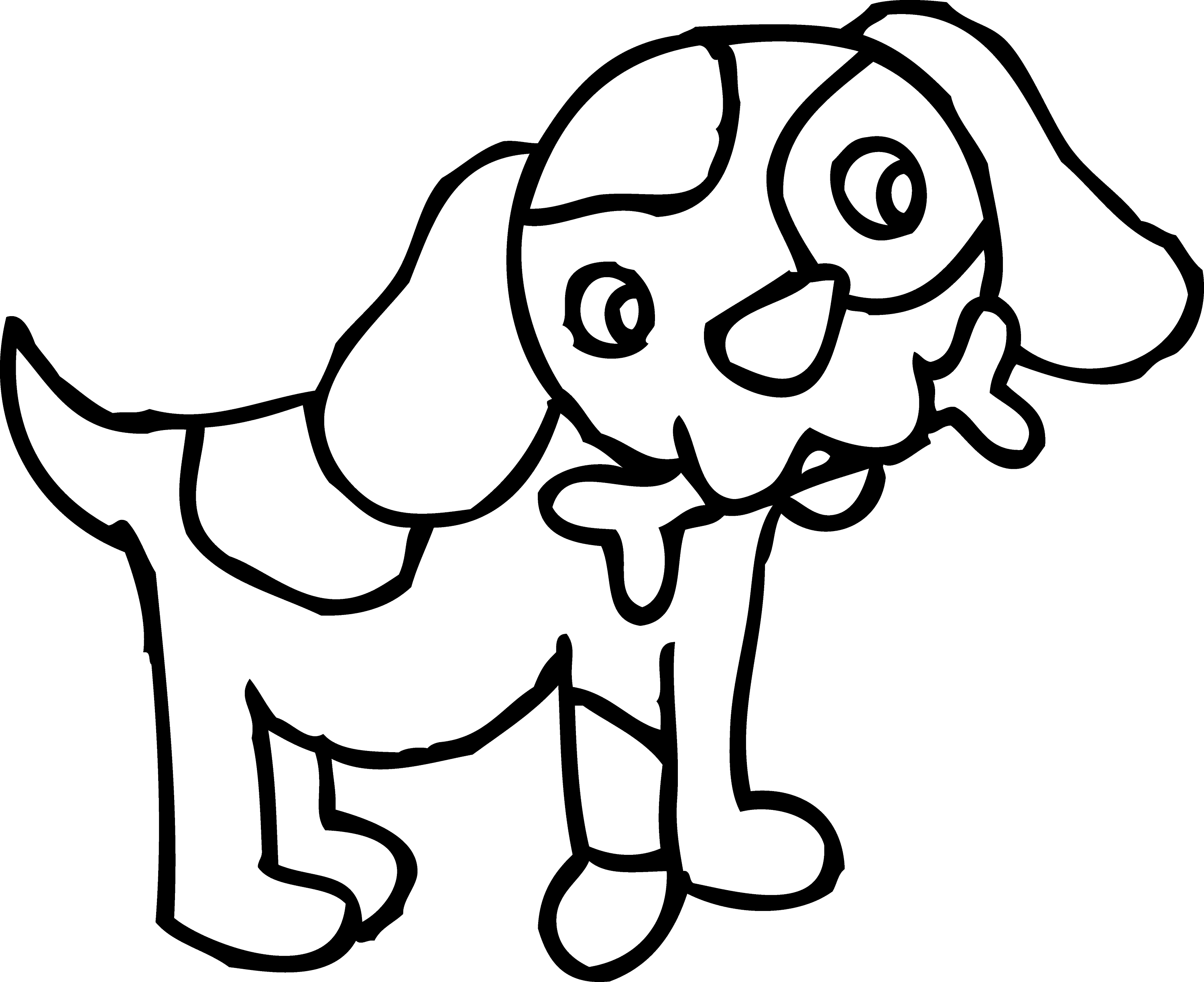 Dog Bone Coloring Pages Coloring Page of Dog With Bone