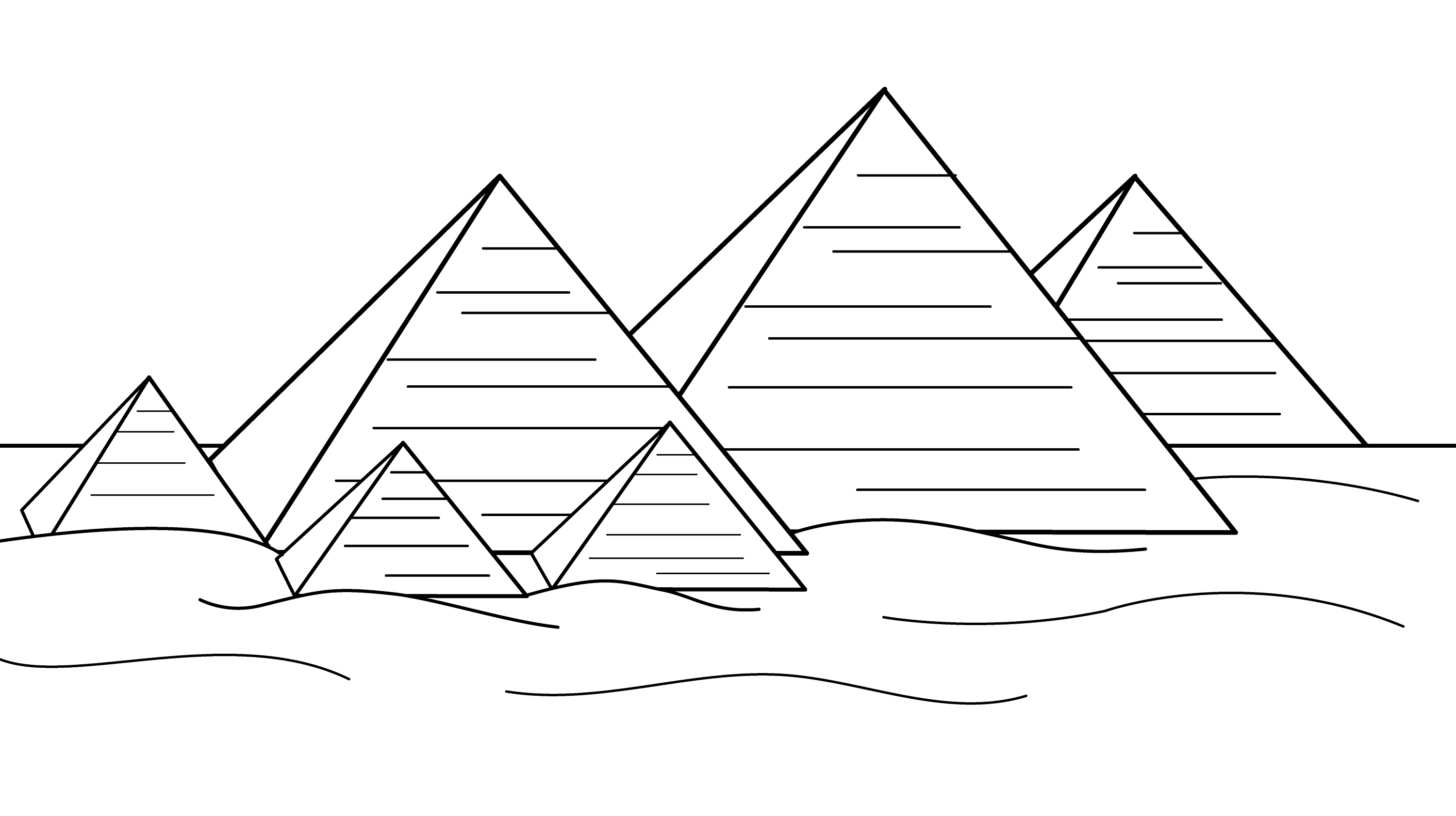 pyramids of egypt coloring page free clip art