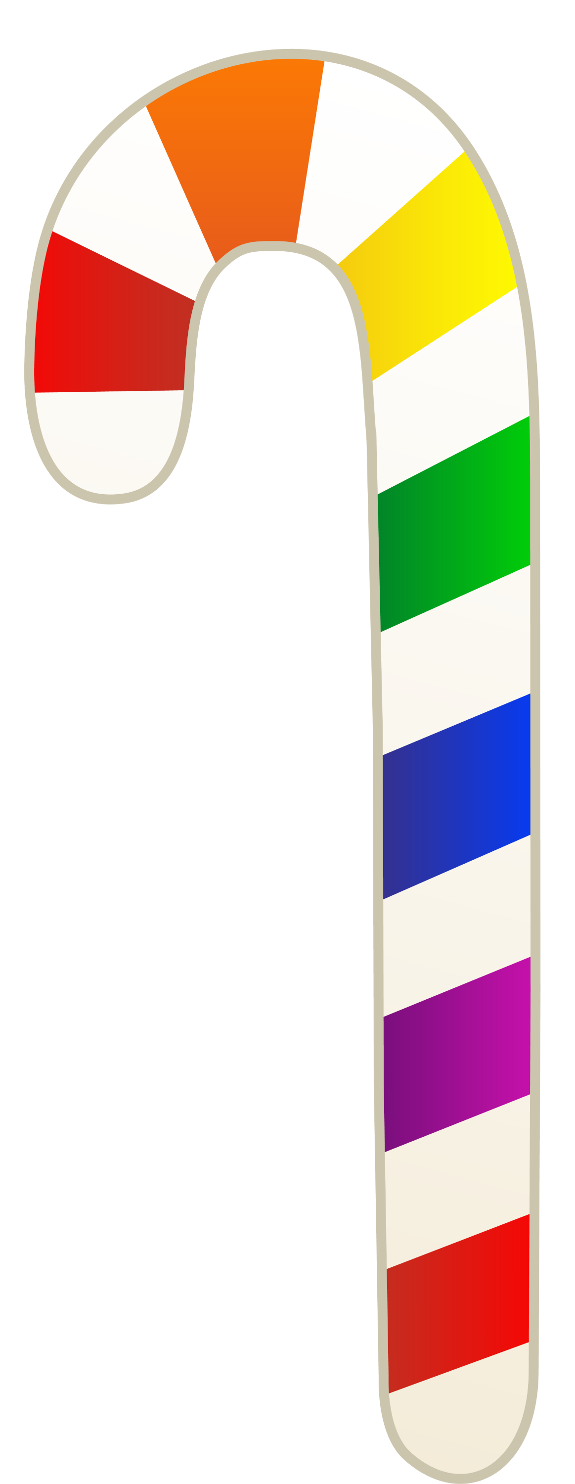 Candy cane border  rainbow colors candy cane