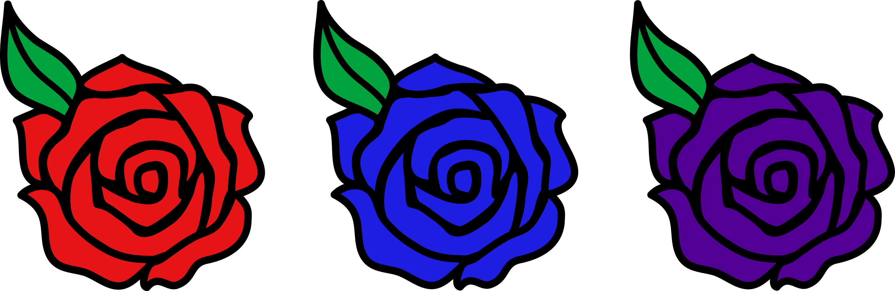 Cartoon Rose Flower