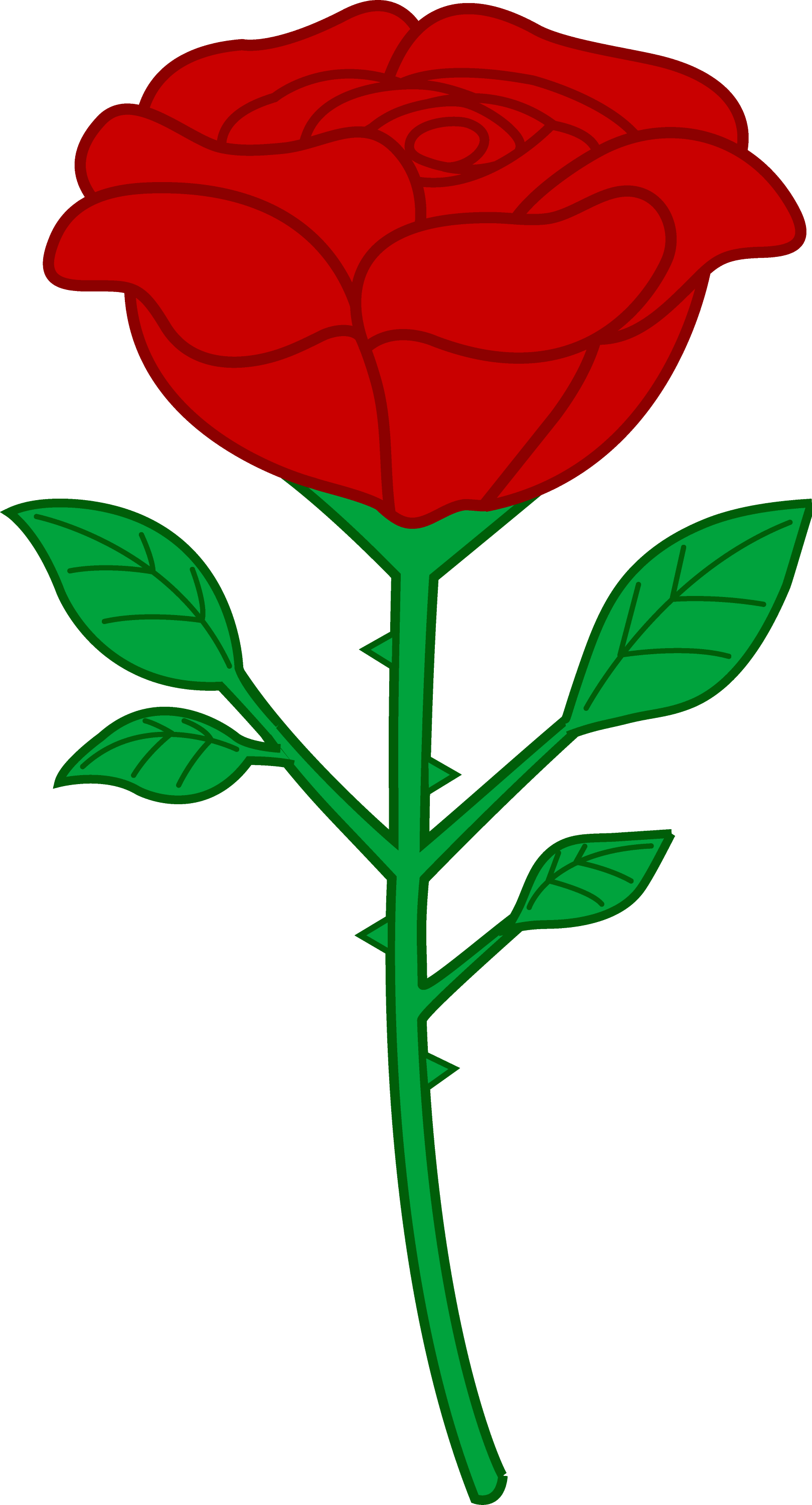 Red Rose Clip Art Outline