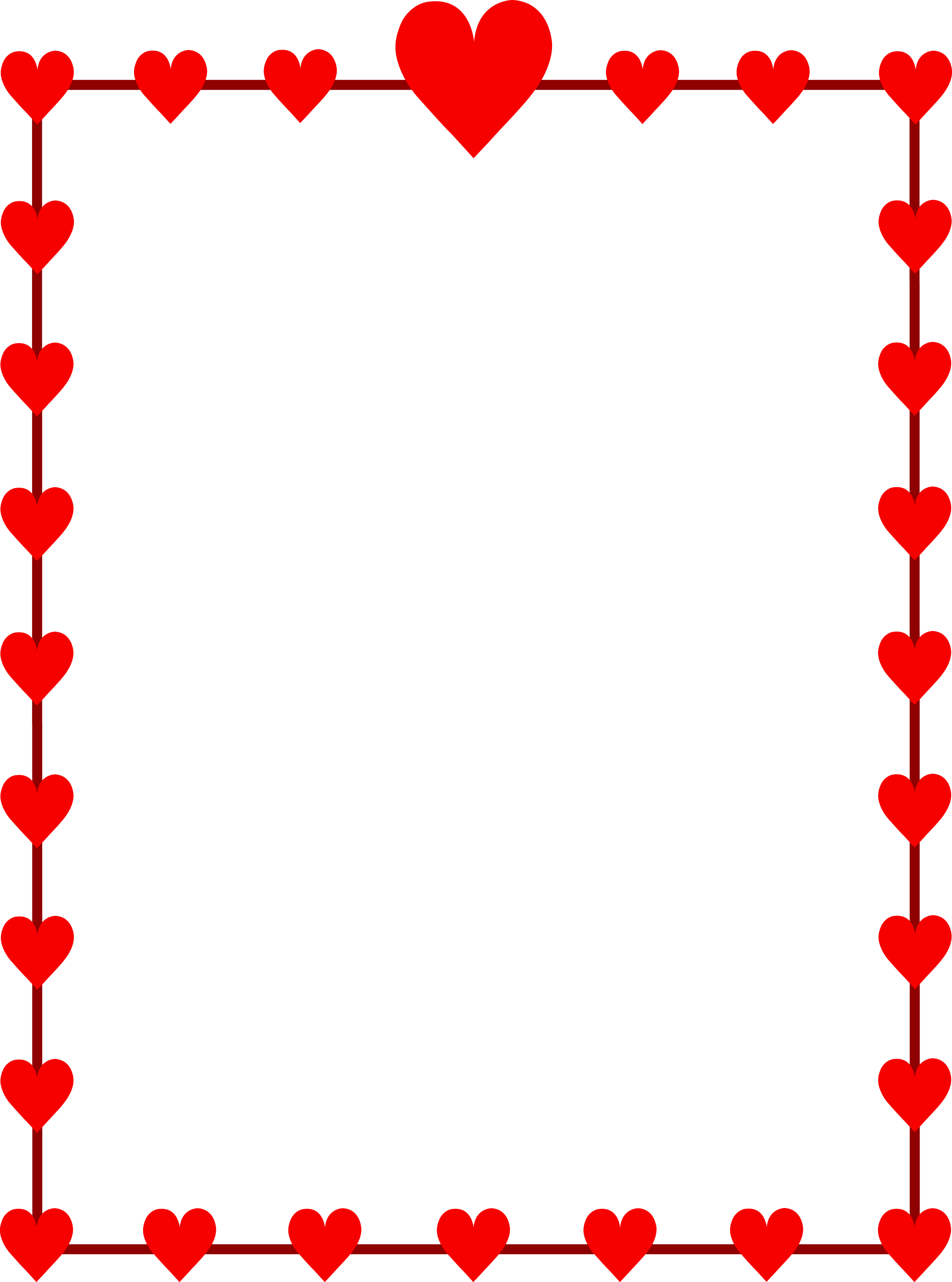 Cute Red Heart Border
