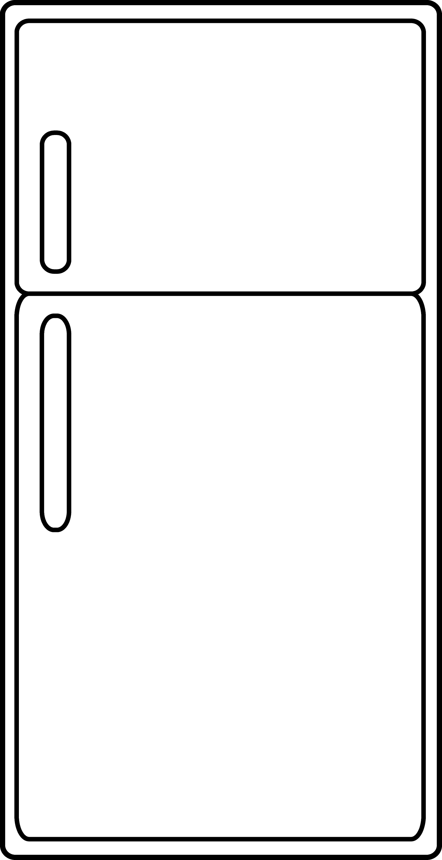 freezer clipart black and white. simple refrigerator outline freezer clipart black and white