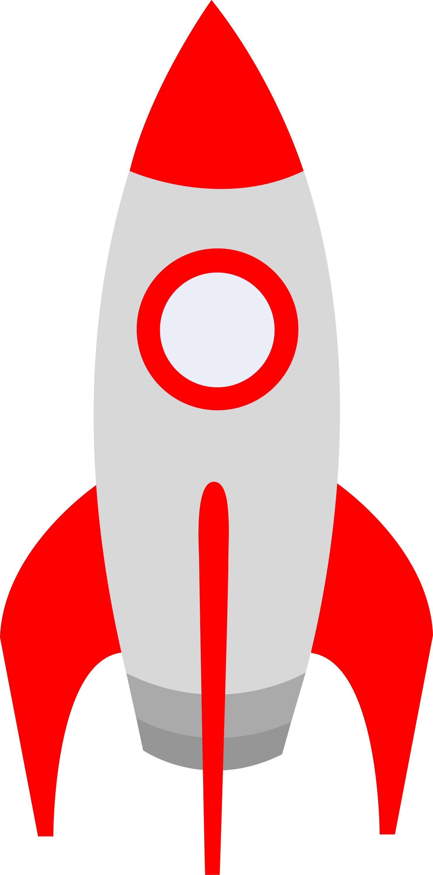 Small Red Retro Space Rocket - Free Clip Art: sweetclipart.com/small-red-retro-space-rocket-78