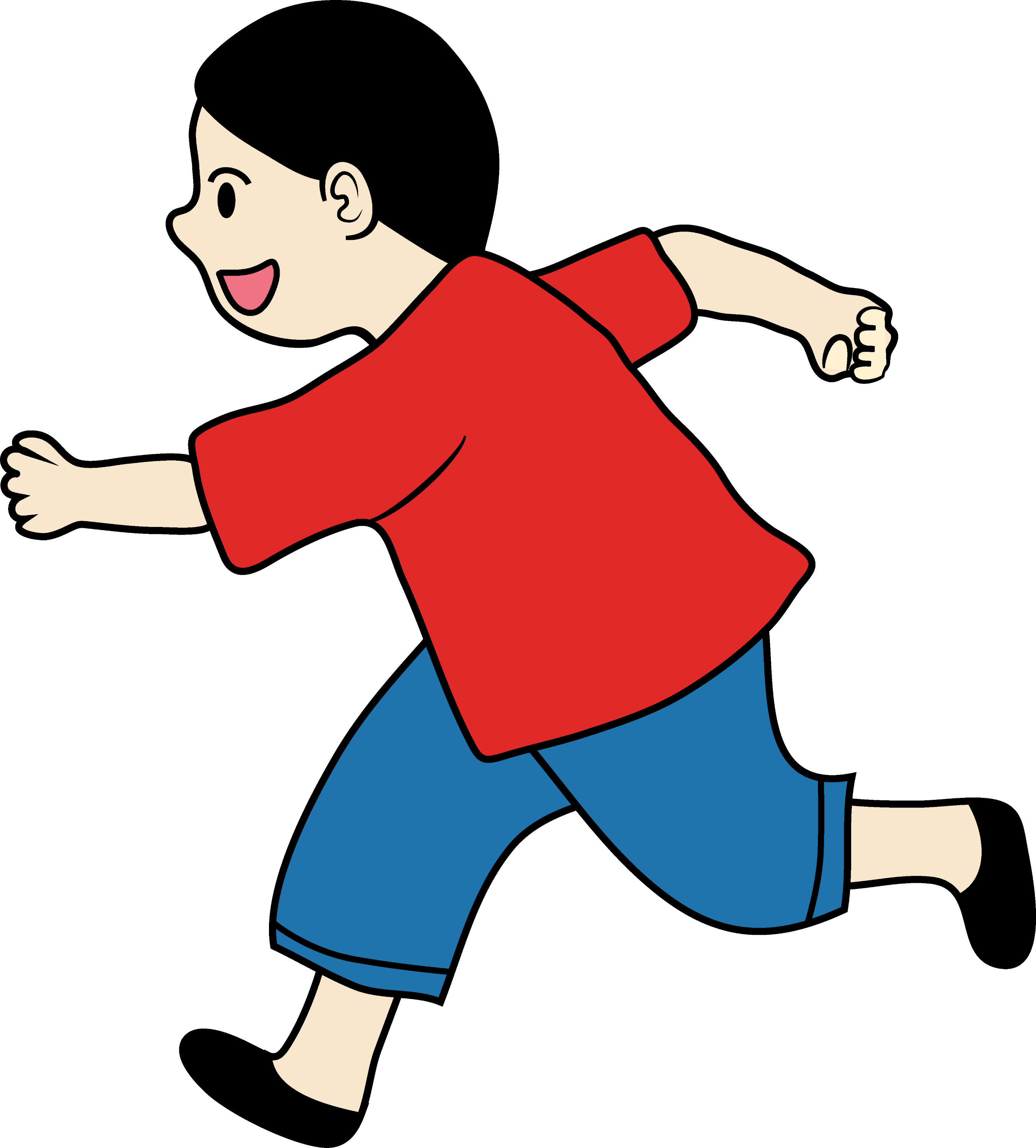 Clipart Of A Little Boy Running