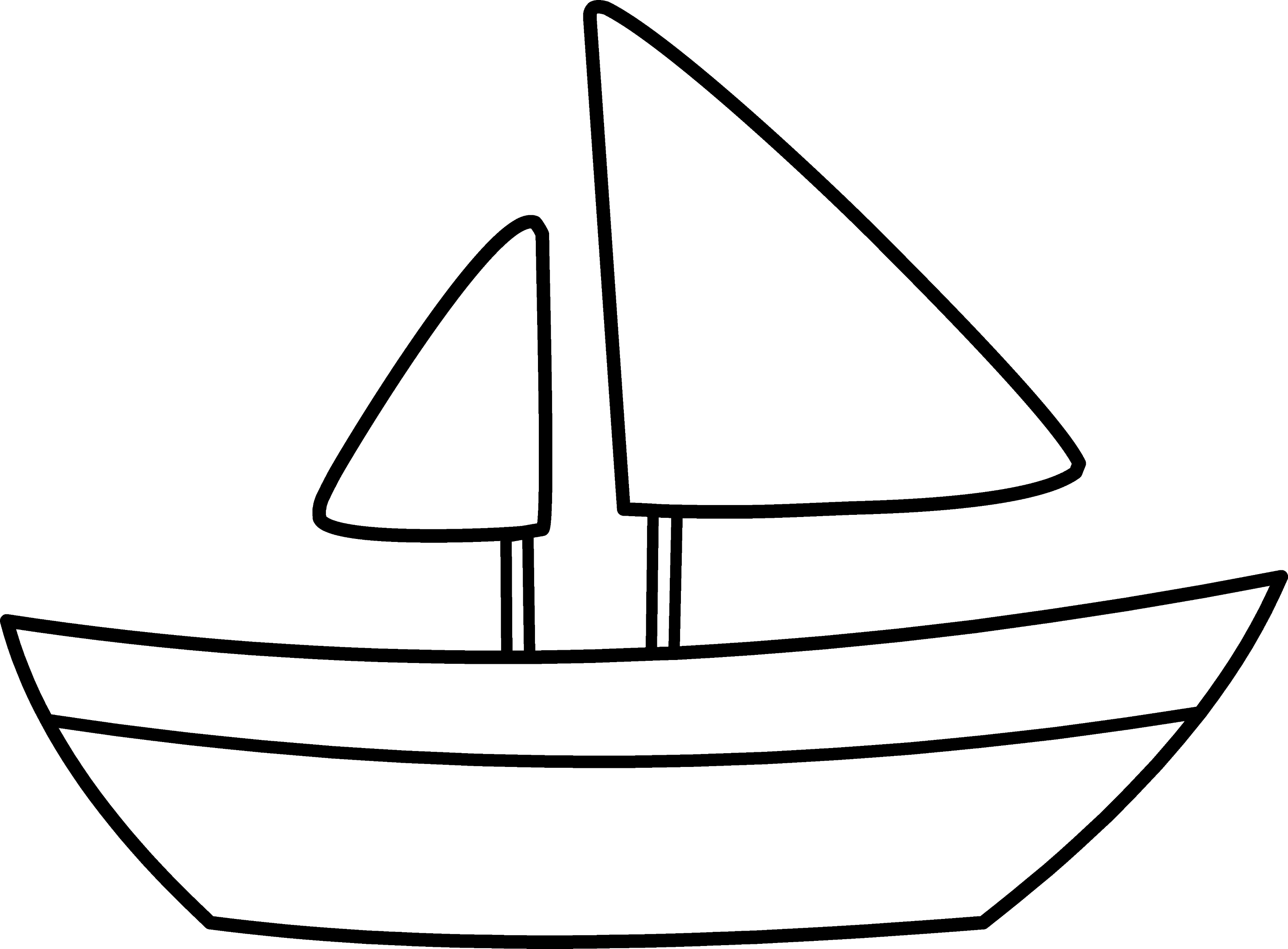 Simple sailboat coloring page free clip art for Boat coloring page