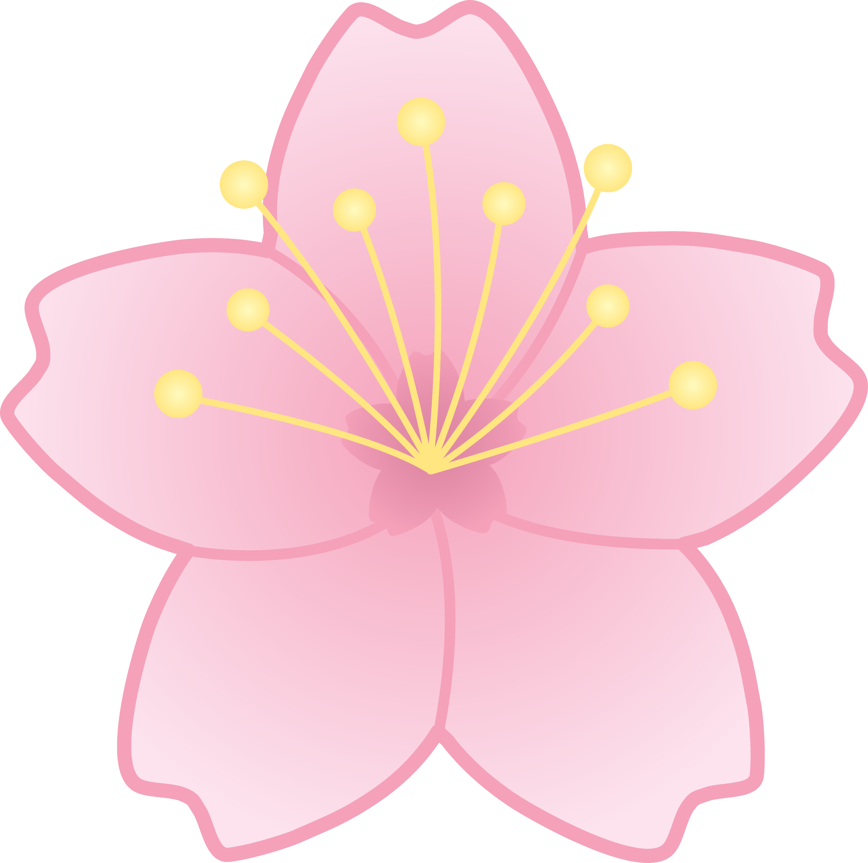 This is an image of Nifty Sakura Flower Drawing