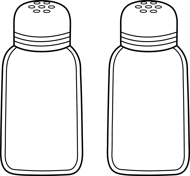 Salt And Pepper Line Art Free Clip Art