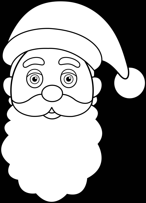 Santa Beard Cartoon Colorable santa claus face
