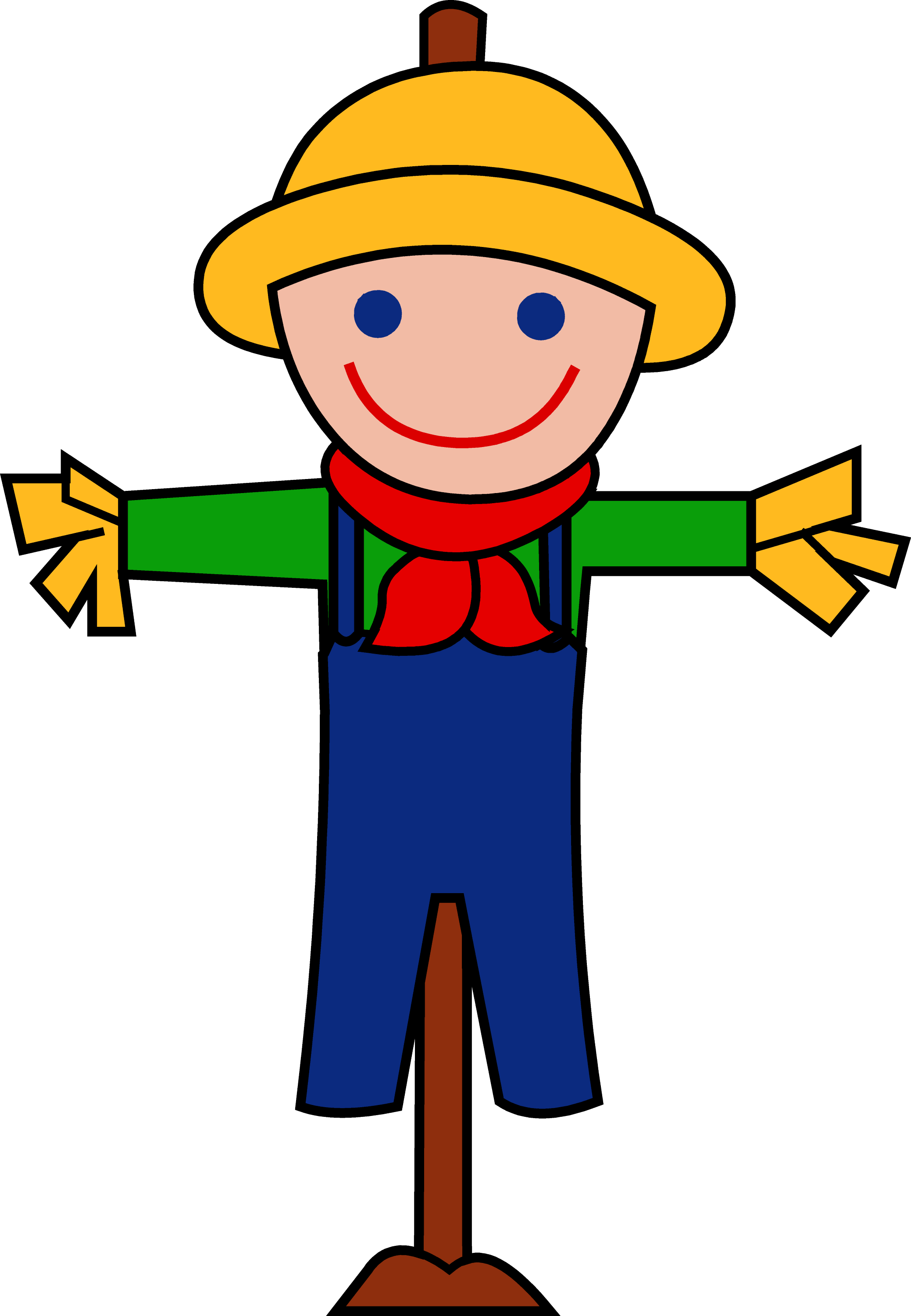 cute happy autumn scarecrow free clip art rh sweetclipart com free cute clip art images free cute clipart