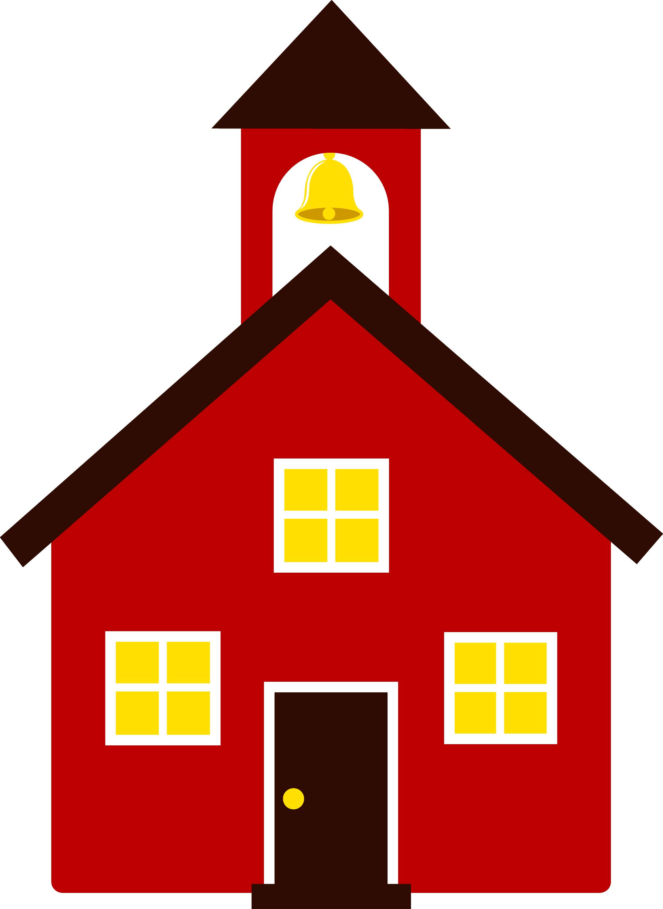 Little Red School House - Free Clip Art