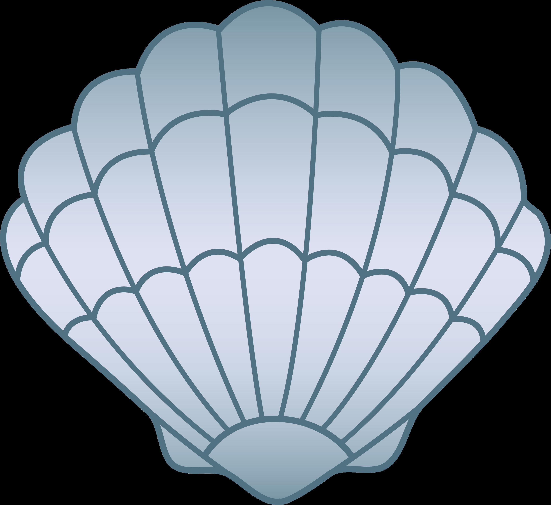 Blue Seashell - Free Clip Art