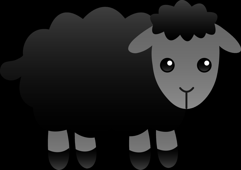 Sheep fluffy. Black free clip art