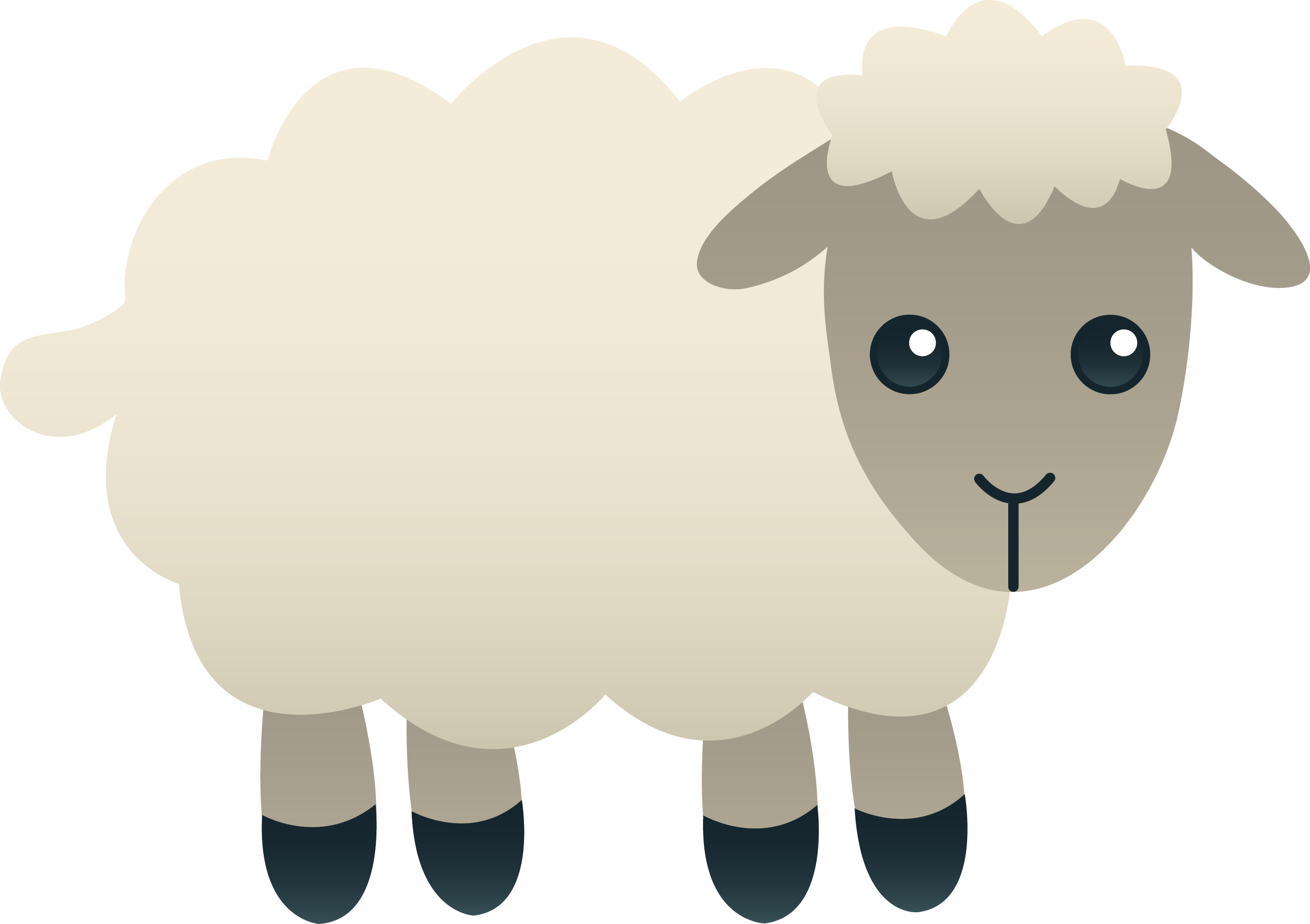 White Sheep Clipart