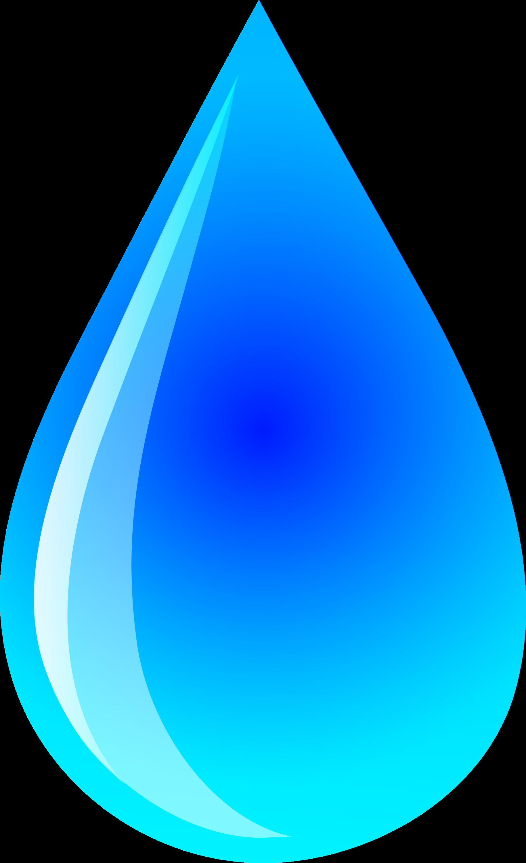 blue water droplet logo free clip art