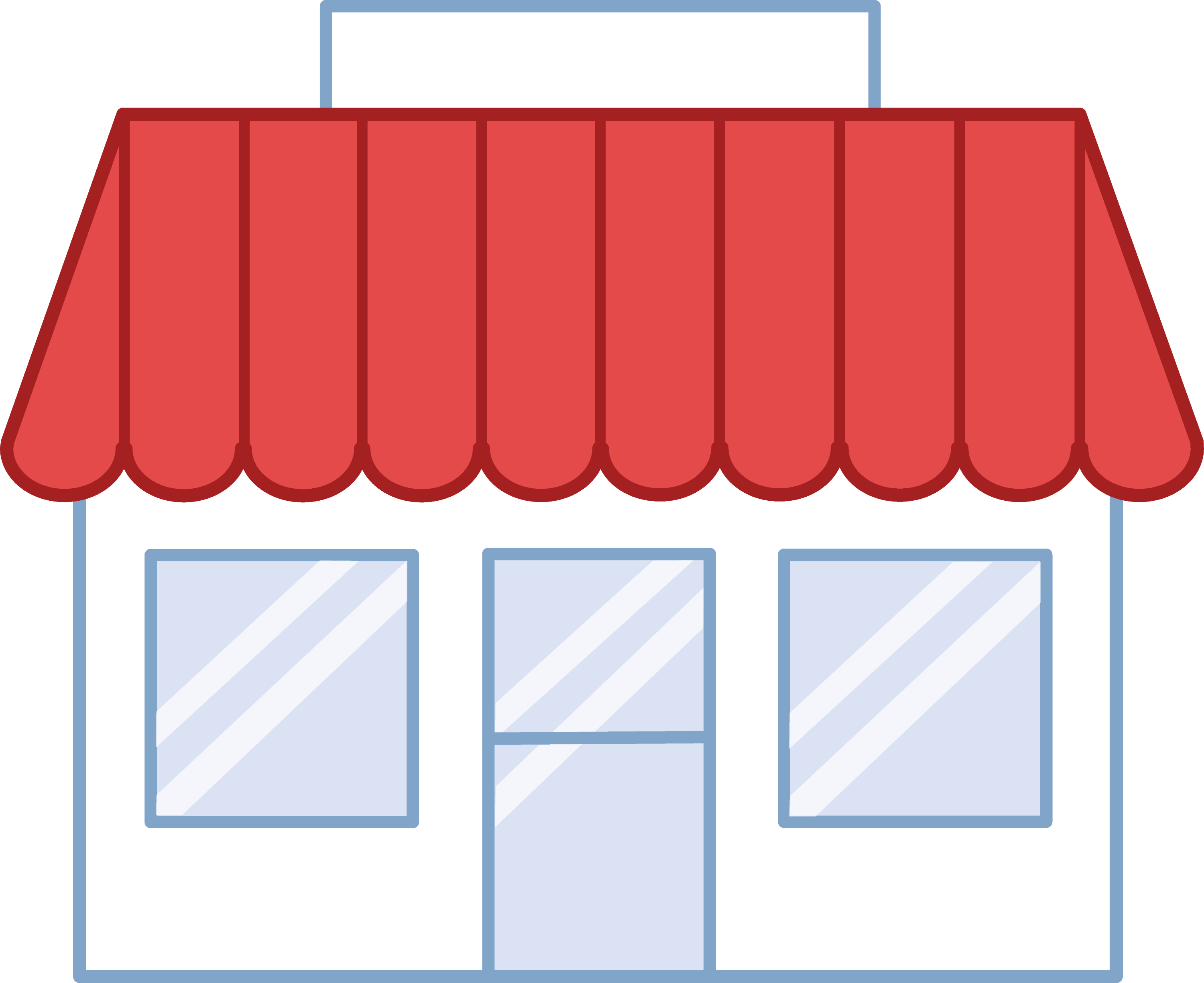 Cute Little Shop Building - Free Clip Art
