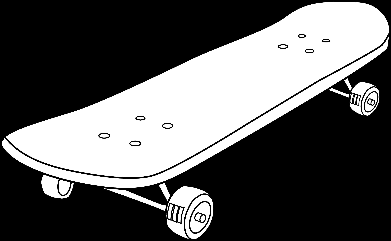 Skateboard clip art images skateboard stock photos amp clipart - Skateboard Coloring Page