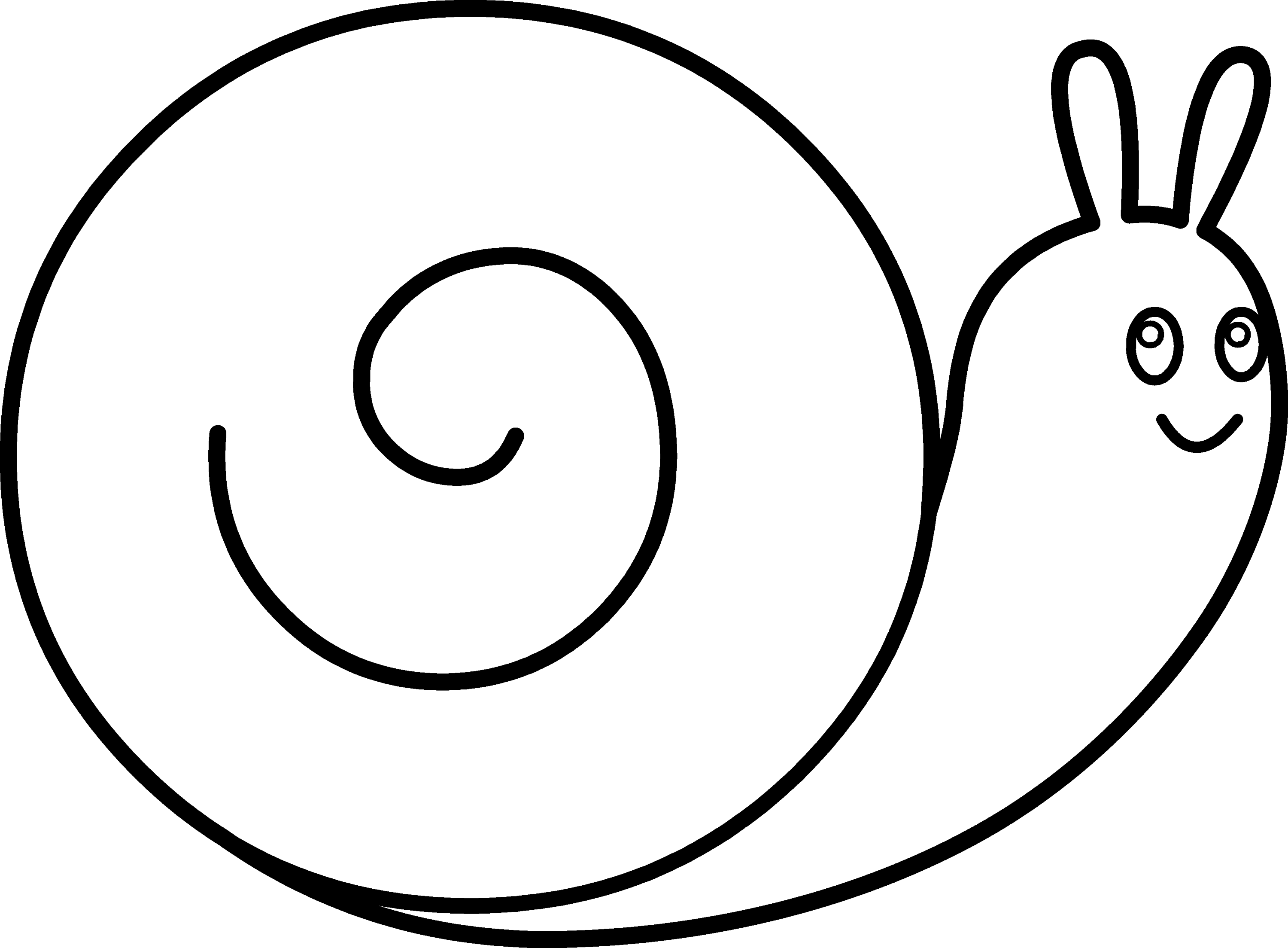 Cute Snail Coloring Page - Free Clip Art