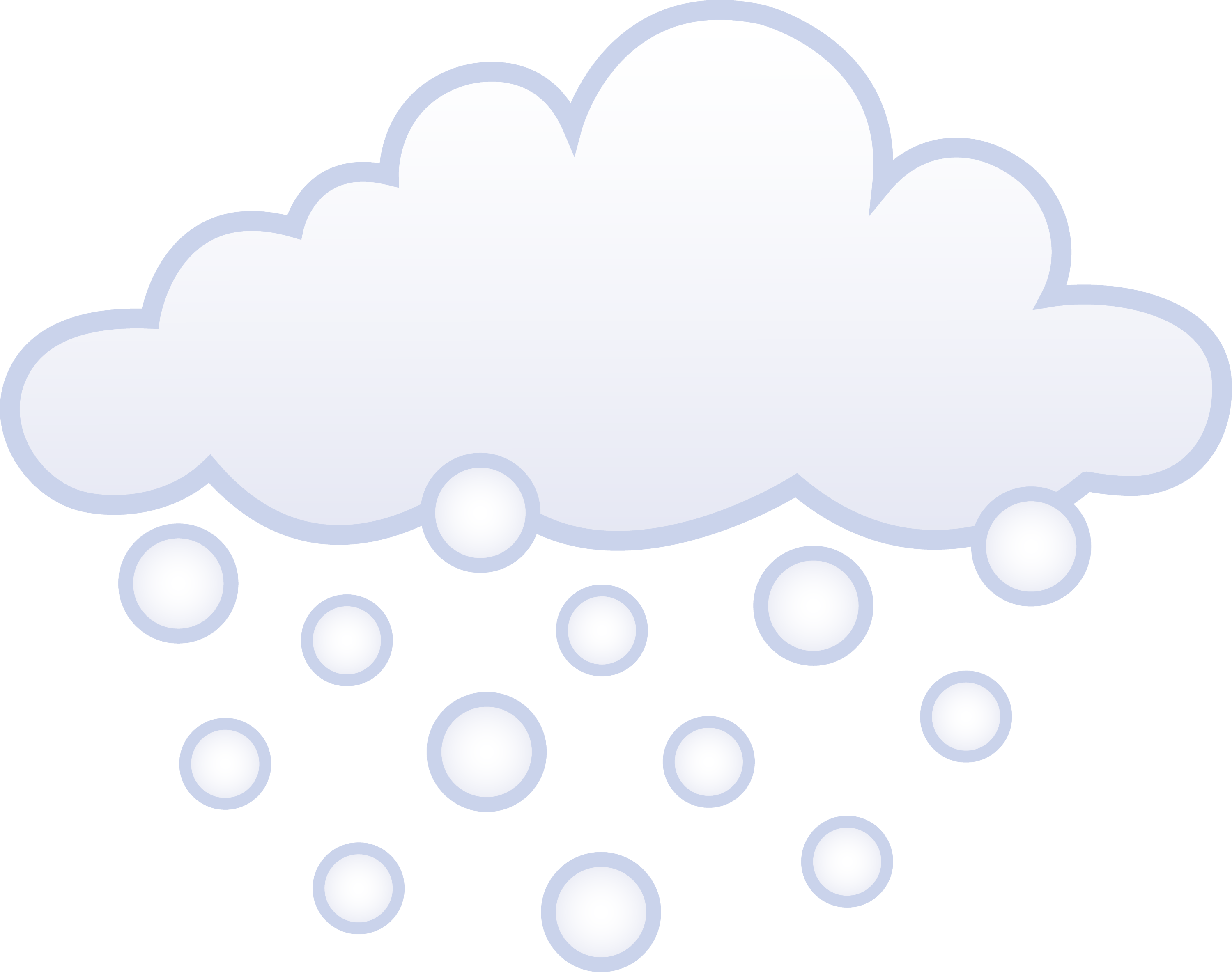 Snowing White Winter Cloud Free Clip Art