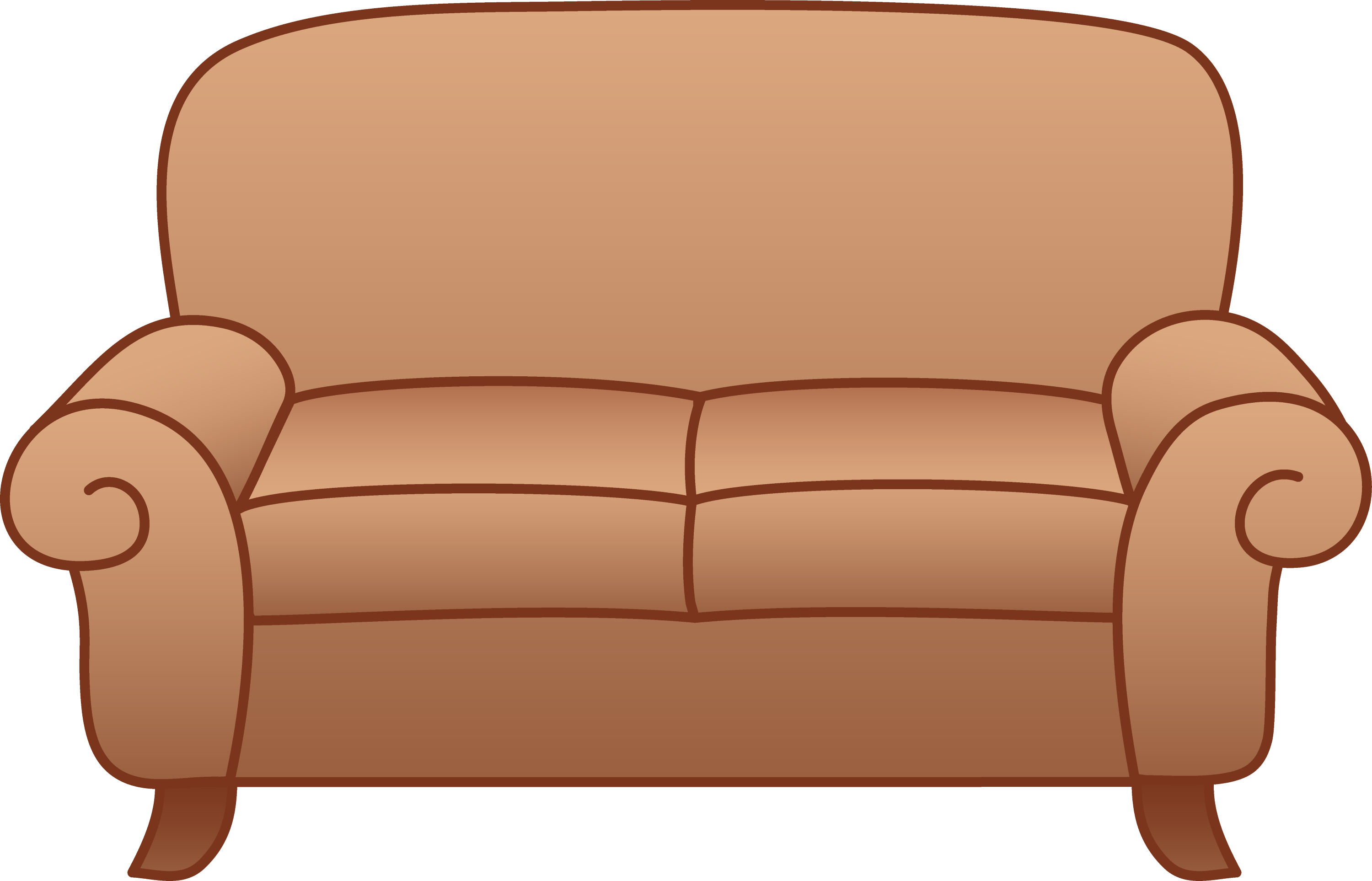 Beige Living Room Sofa Free Clip Art