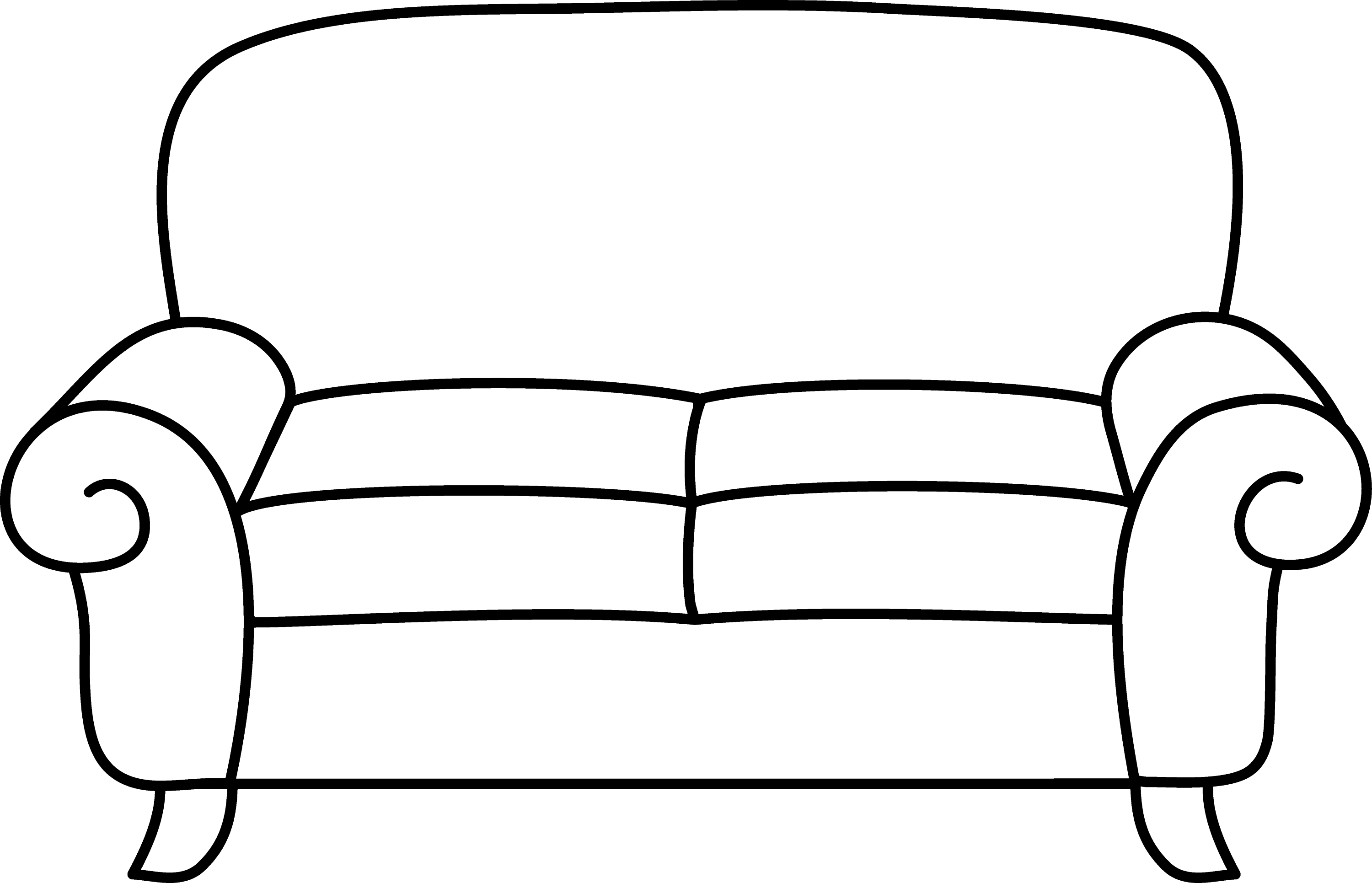 Sofa coloring page free clip art for Sofa clipart