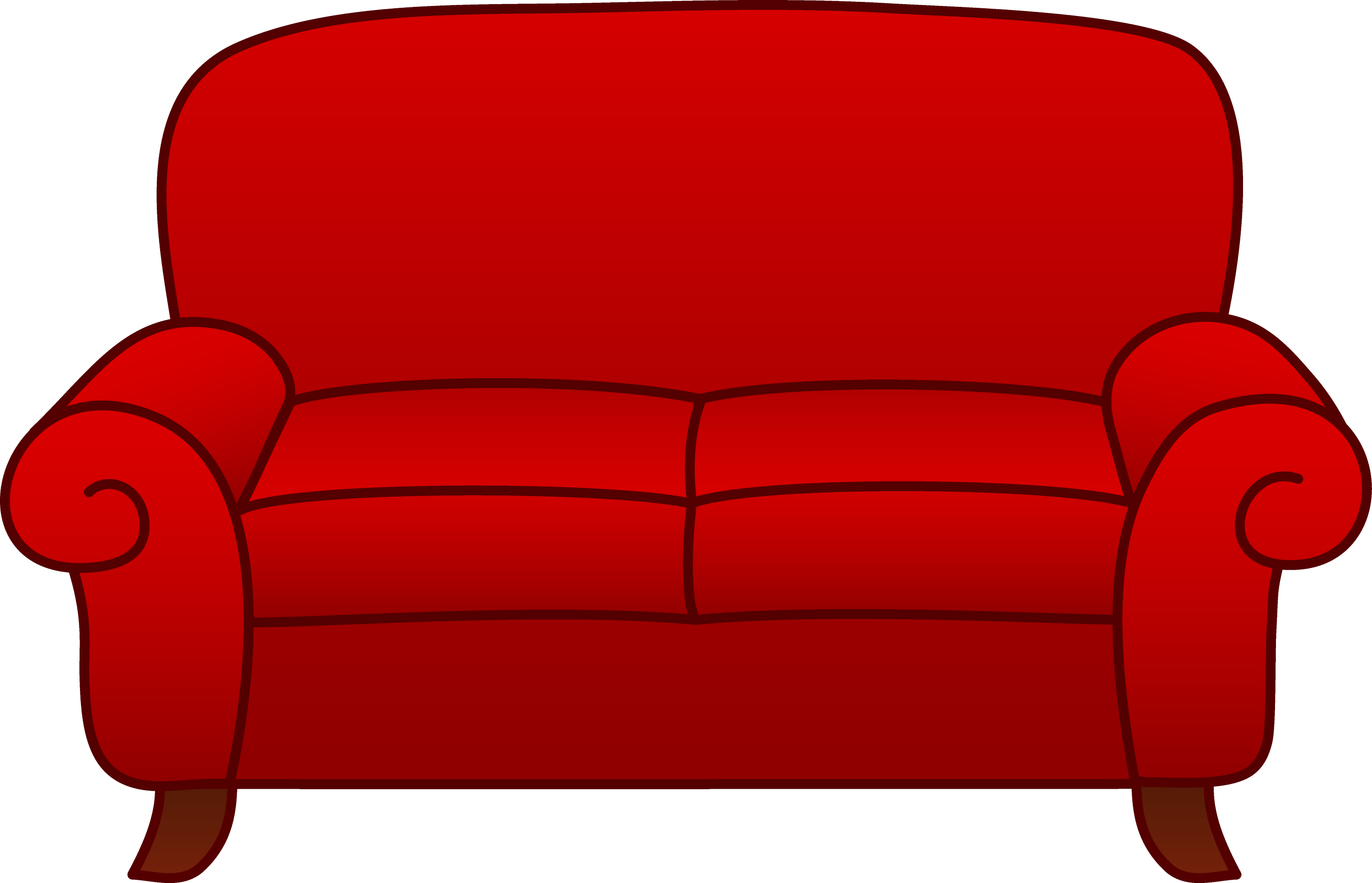 Red Living Room Sofa Free Clip Art
