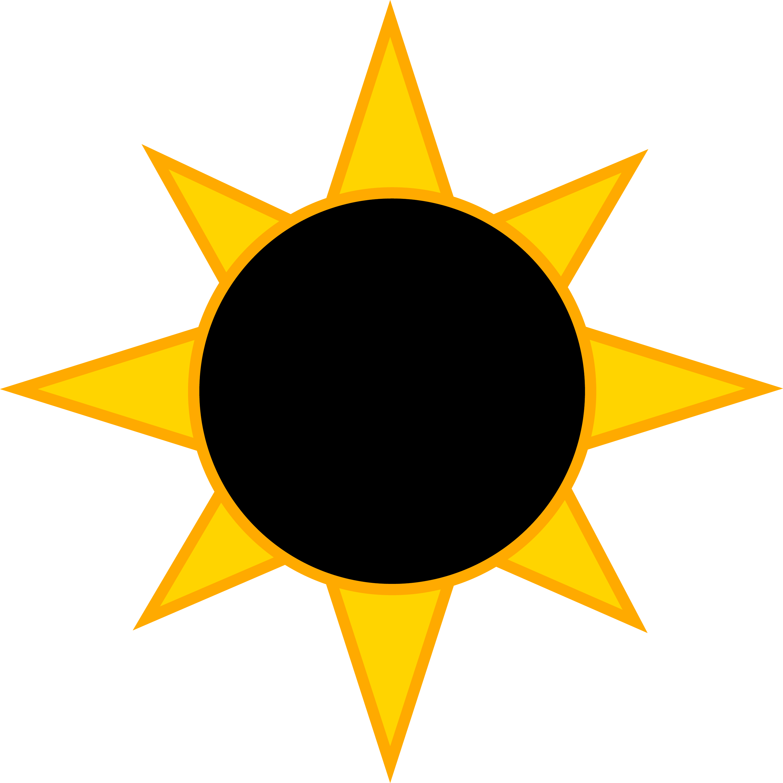 Solar Eclipse Symbol Free Clip Art