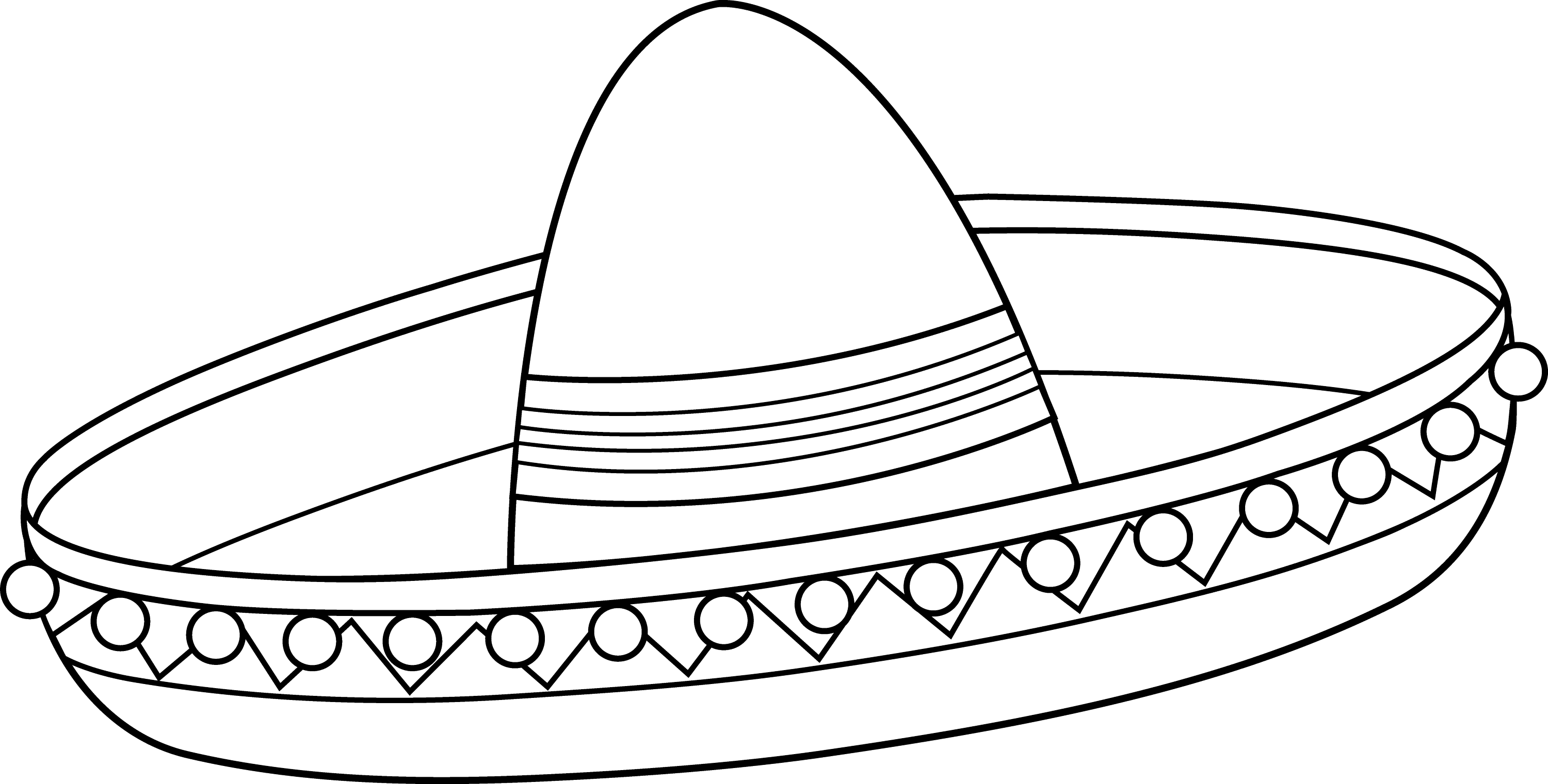 free sombrero coloring pages - photo#1