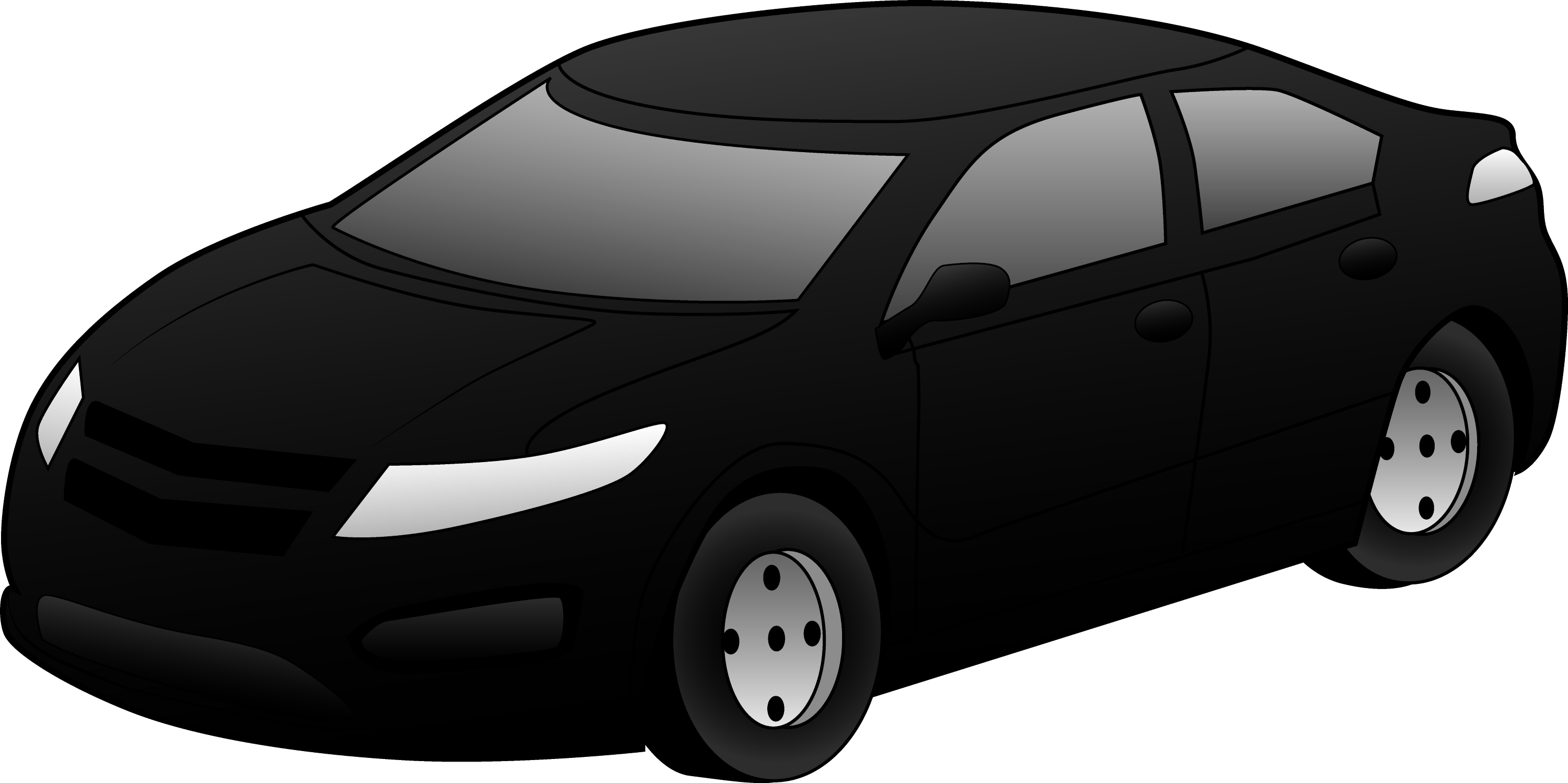 black sports car clipart - photo #1