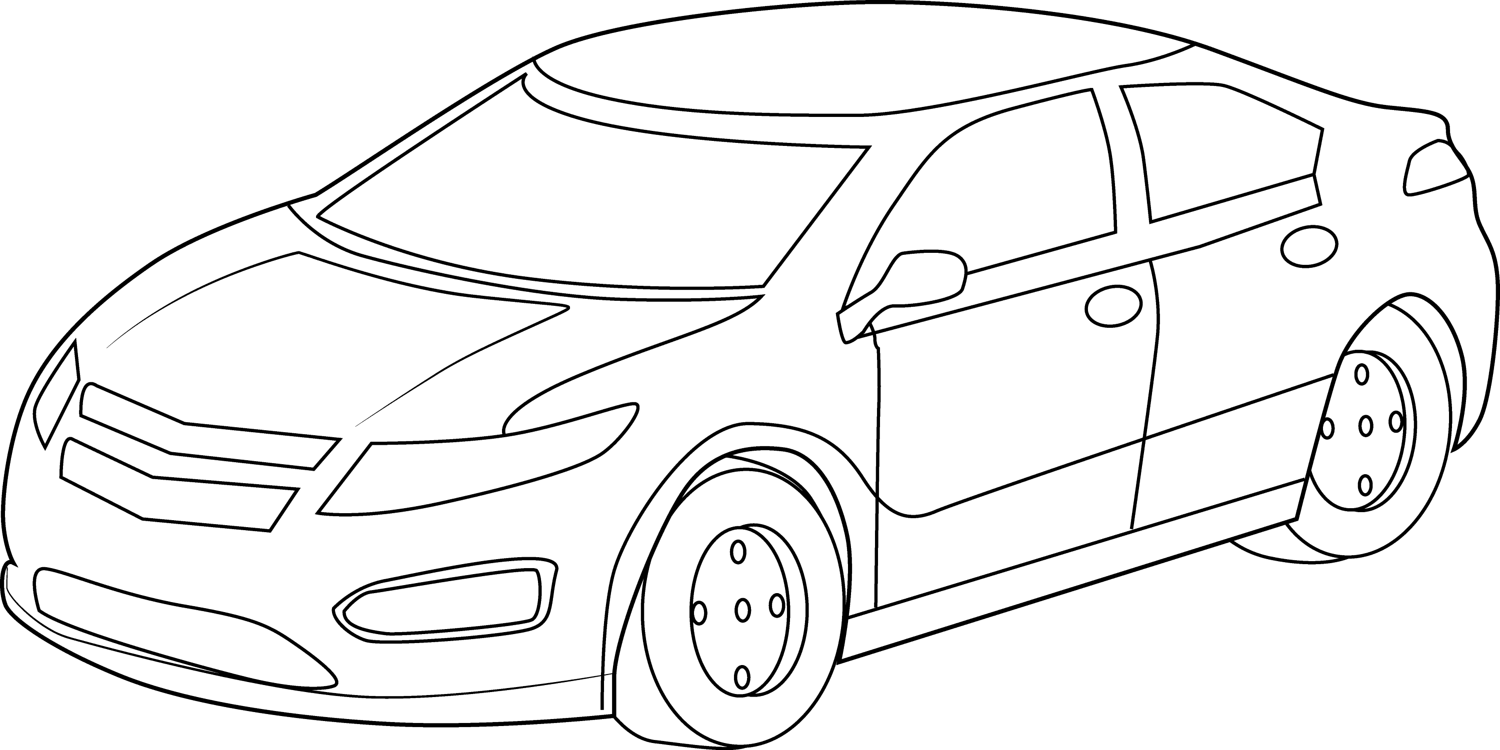 Line art car : Cool sports car coloring page free clip art