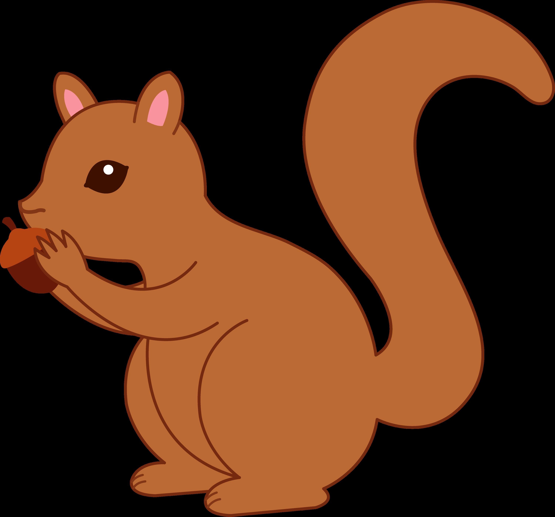 clip art cartoon squirrel - photo #2