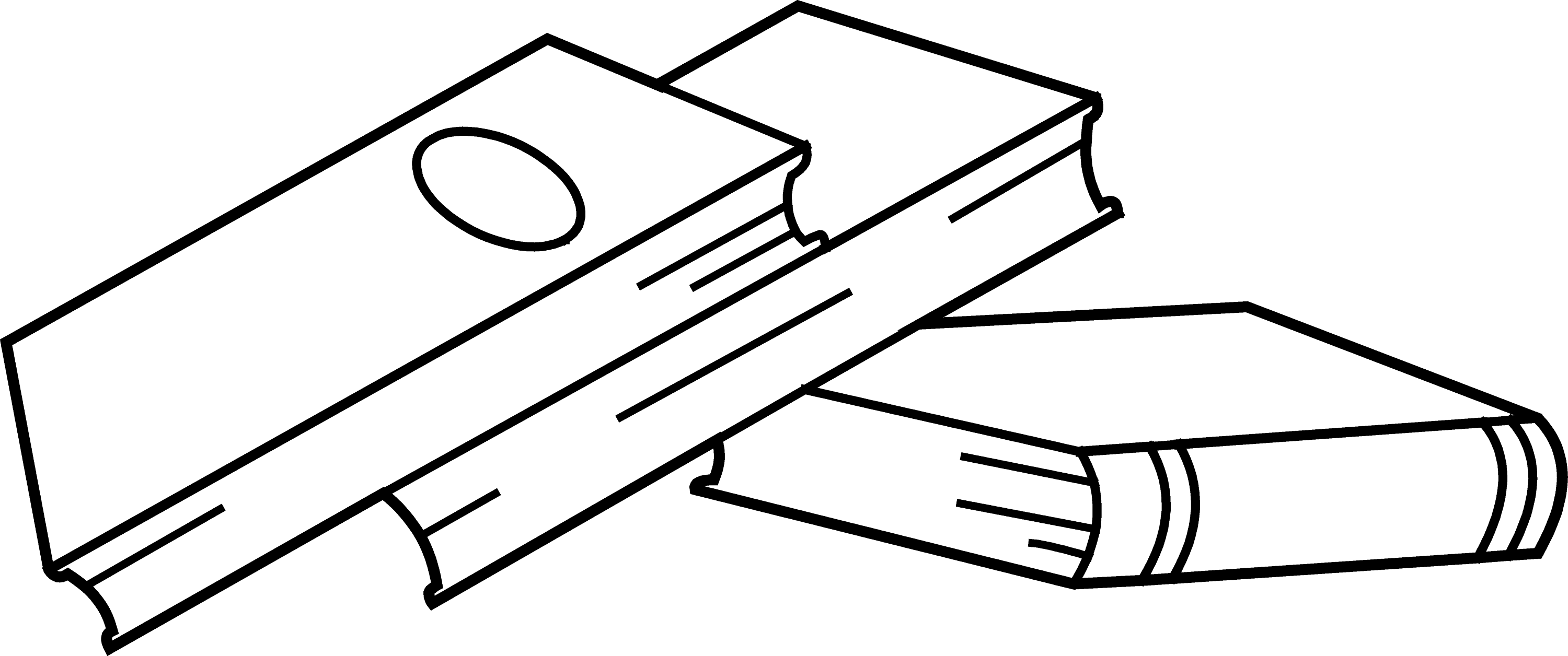 Stack of Books Coloring Page - Free Clip Art
