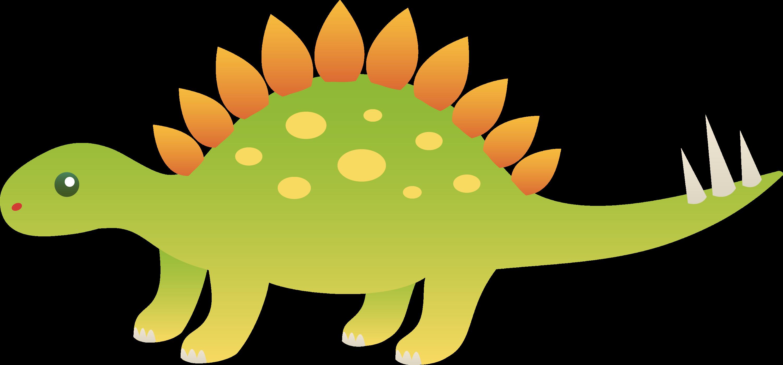 Cute Stegosaurus Dinosaur - Free Clip Art