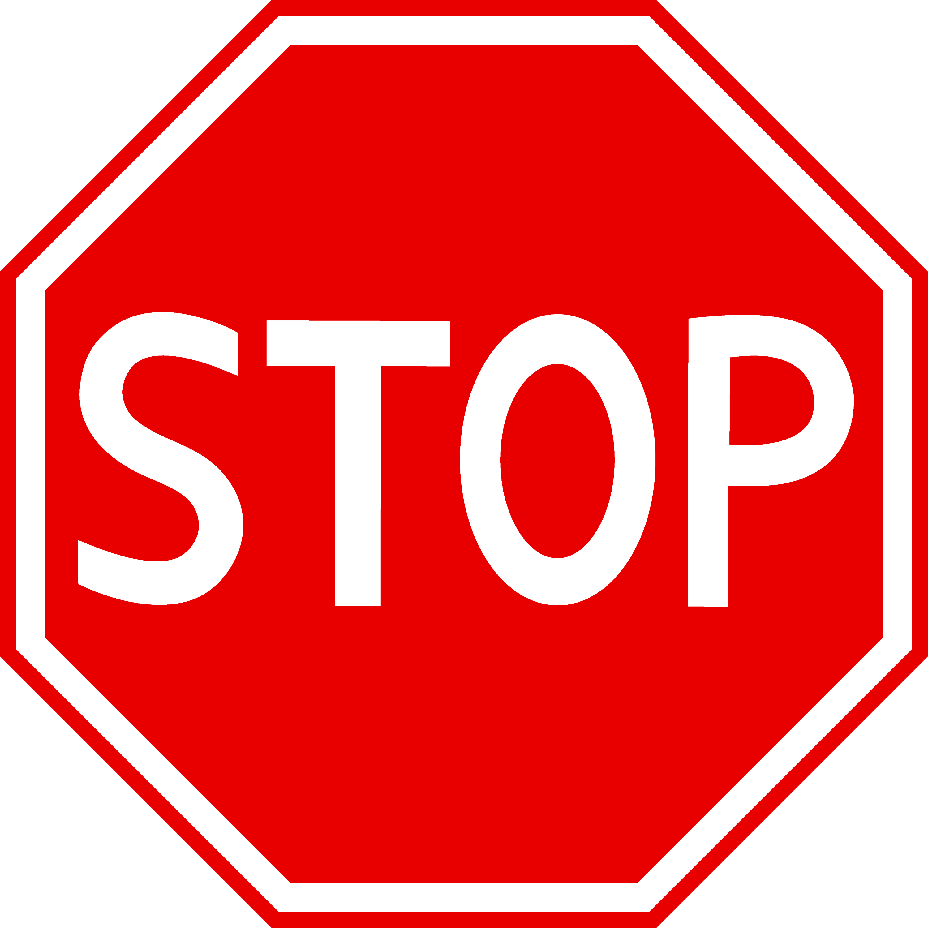 Red Stop Sign Clipart - Free Clip Art