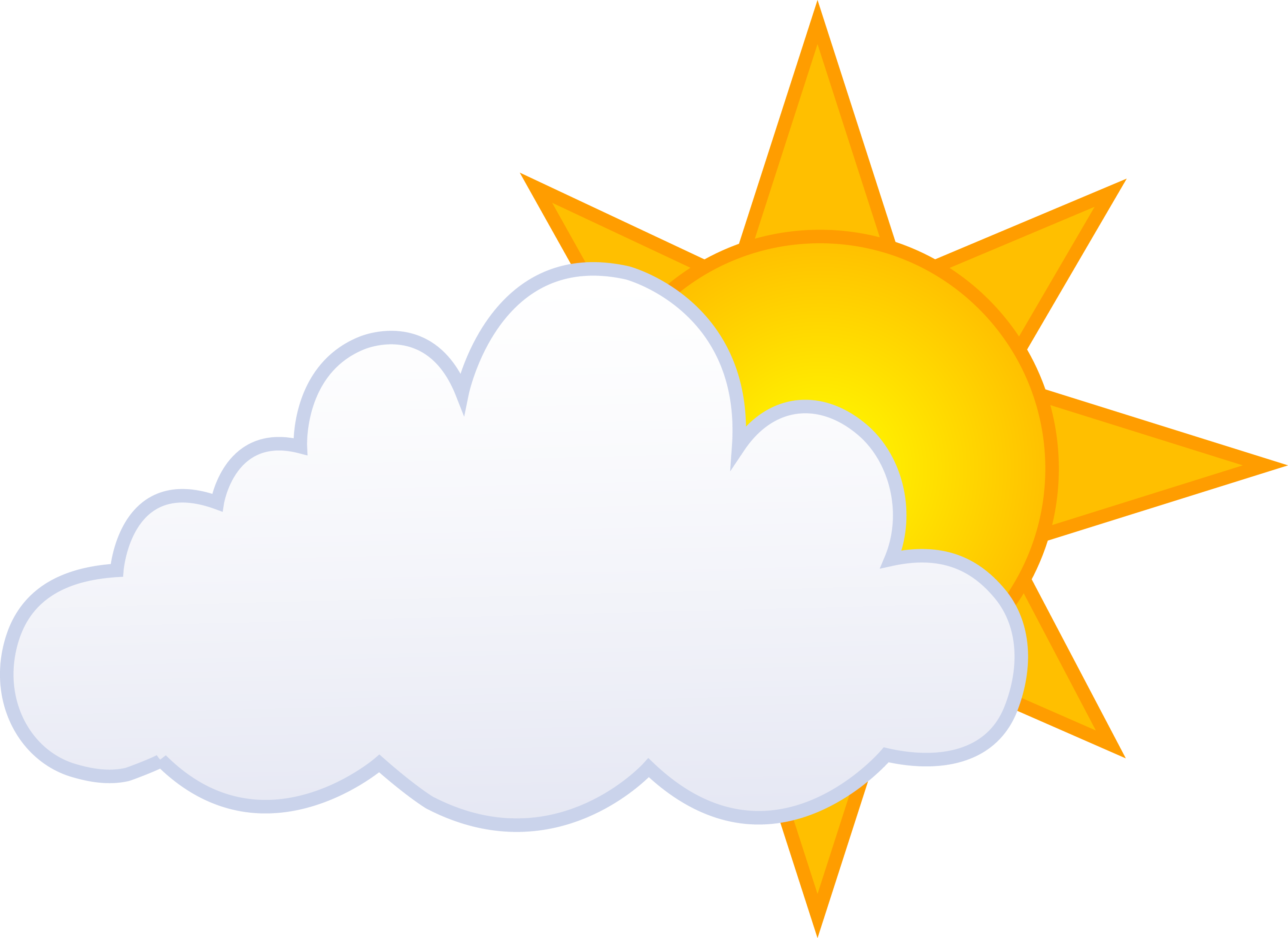 Sun Behind Clouds Clip Art