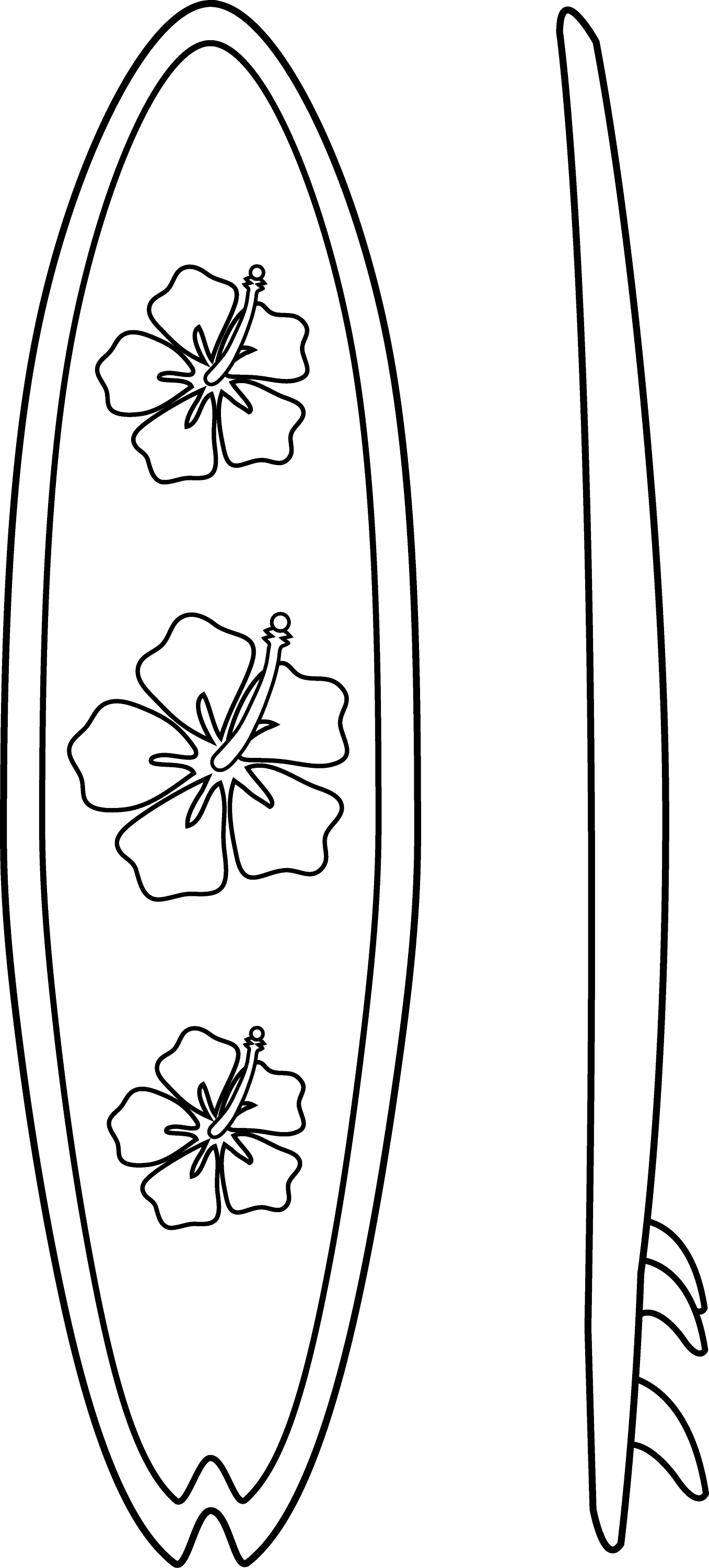 Surfboards Line Art Free Clip Art Surfboard Coloring Page
