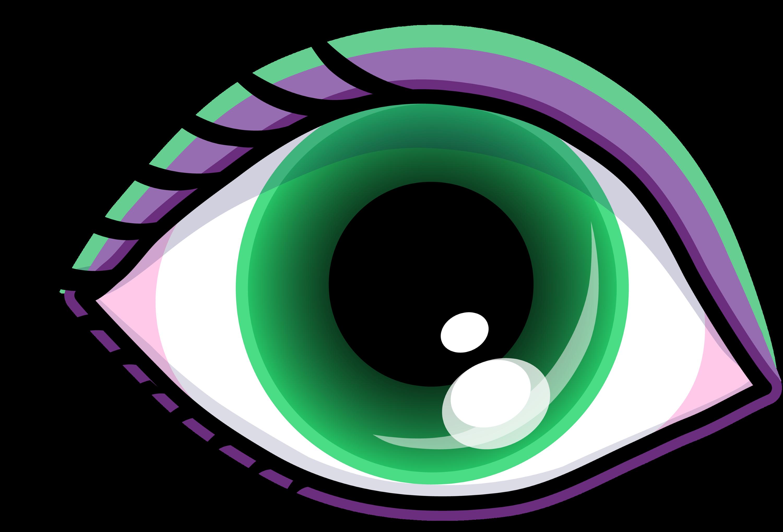 pretty green eye with shadow free clip art