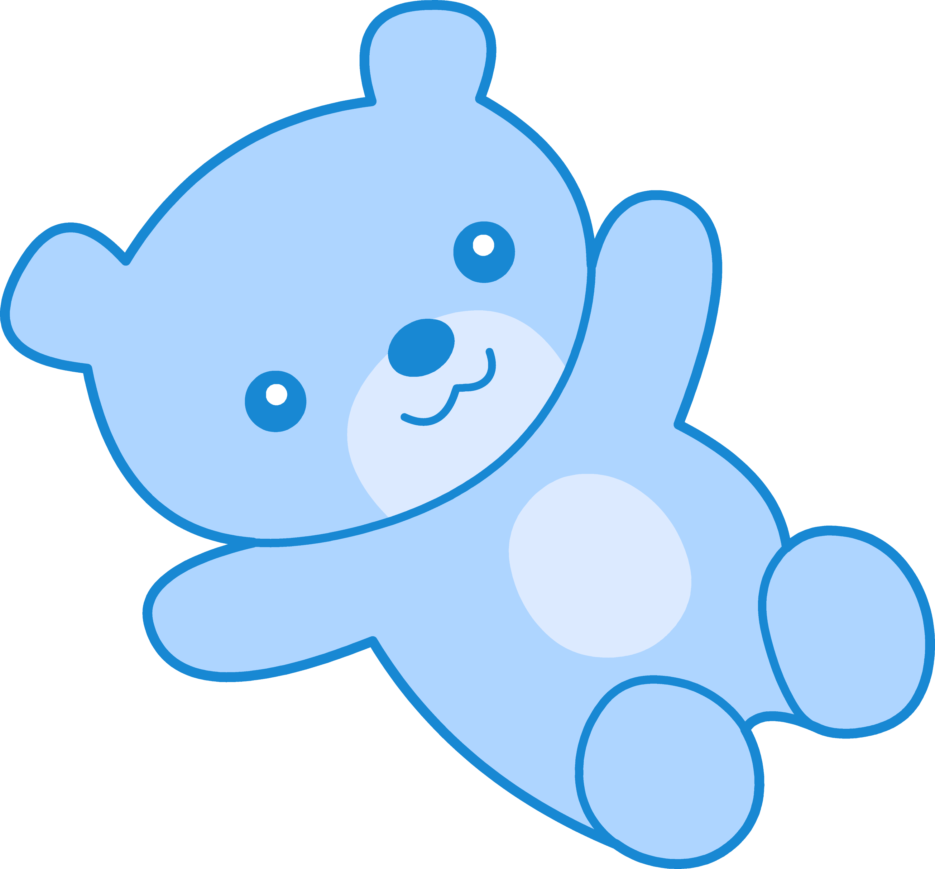 Cute blue teddy bear clipart free clip art cute blue teddy bear clip art altavistaventures Image collections