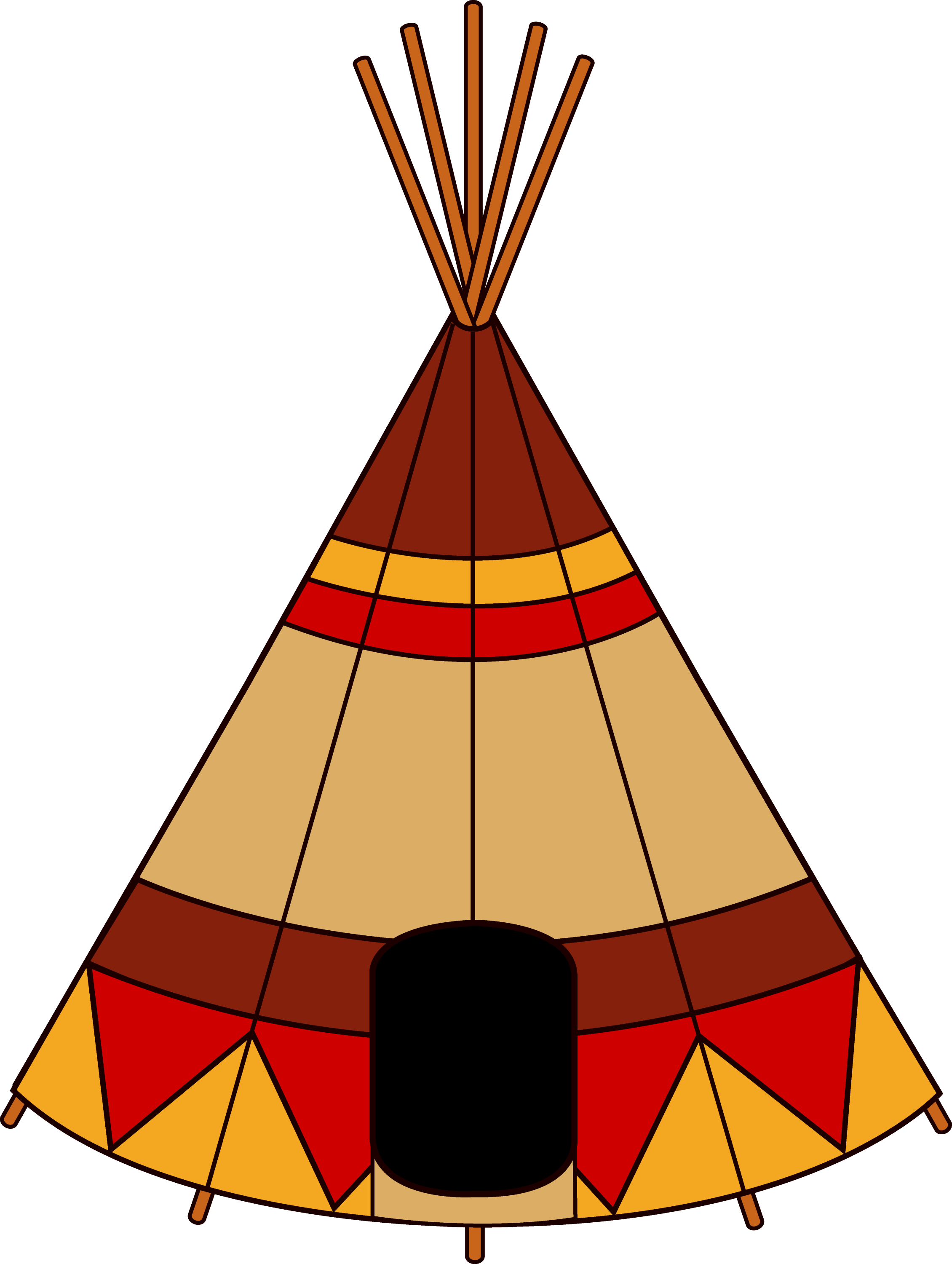 native american teepee free clip art rh sweetclipart com black and white teepee clipart black and white teepee clipart