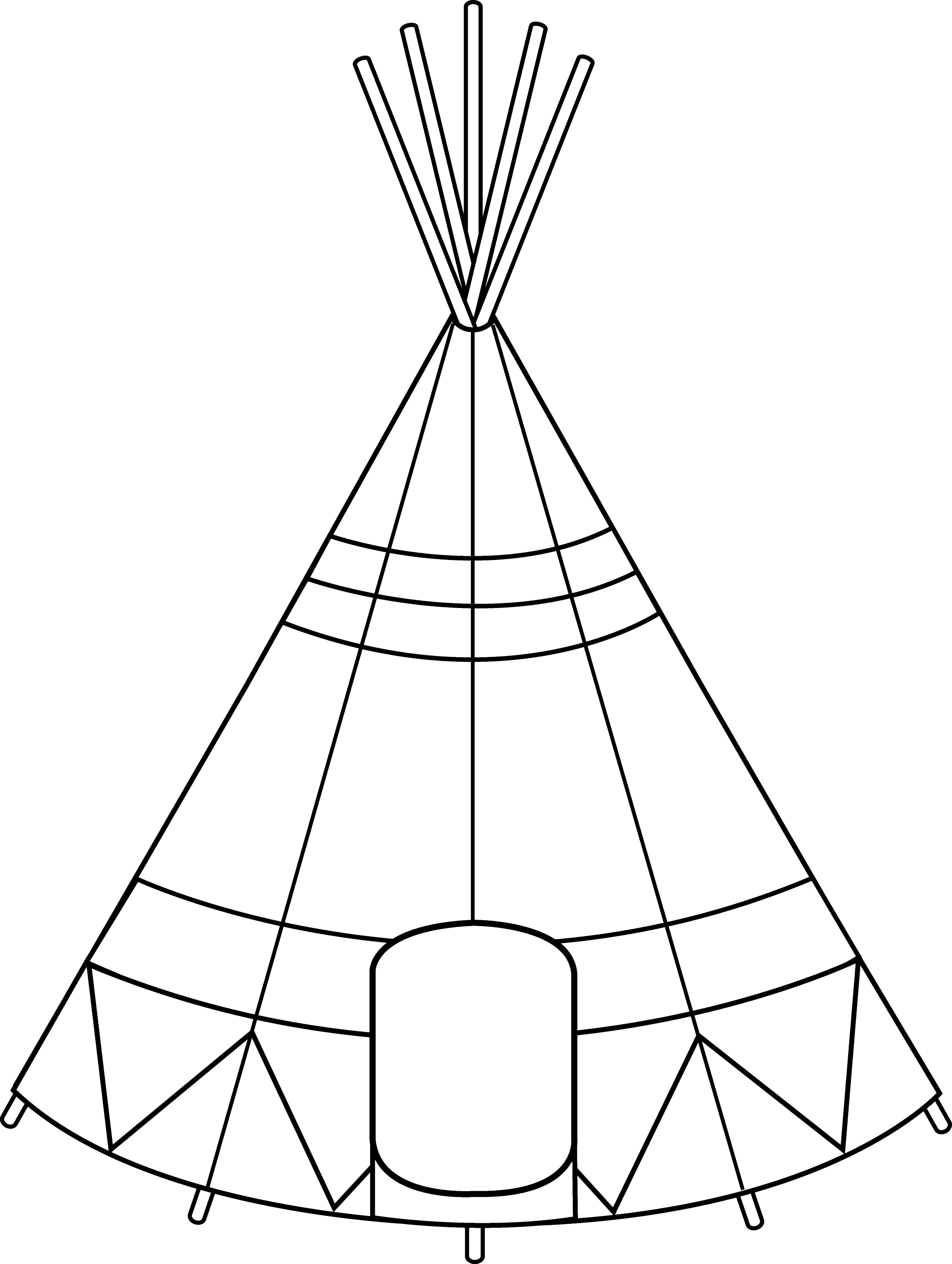 kids teepee coloring pages - photo#22