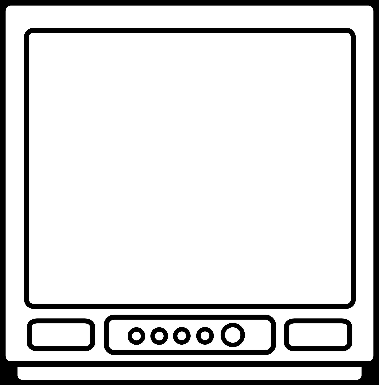 tv drawing. tv line drawing tv