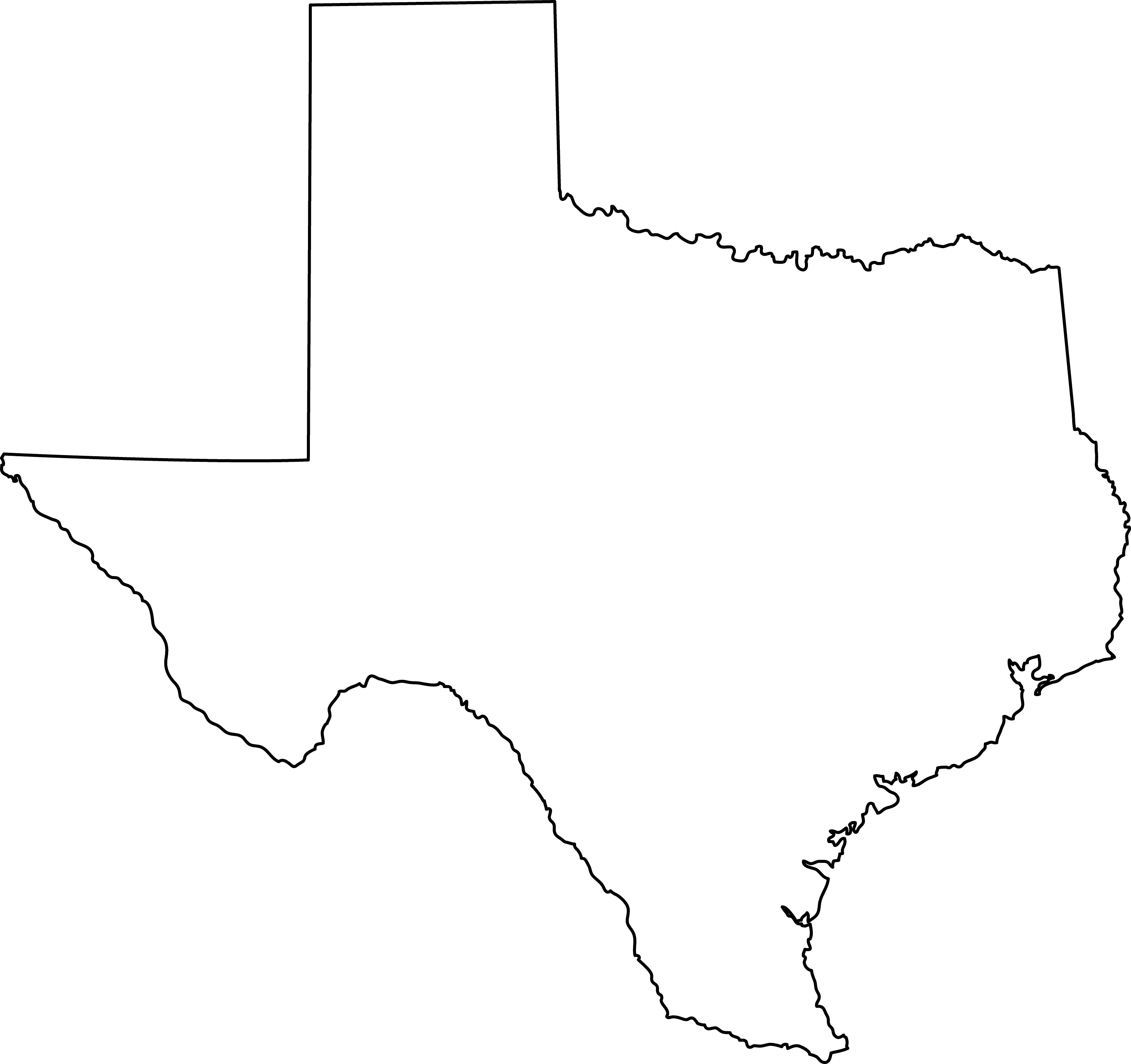 Texas State Line Art -...